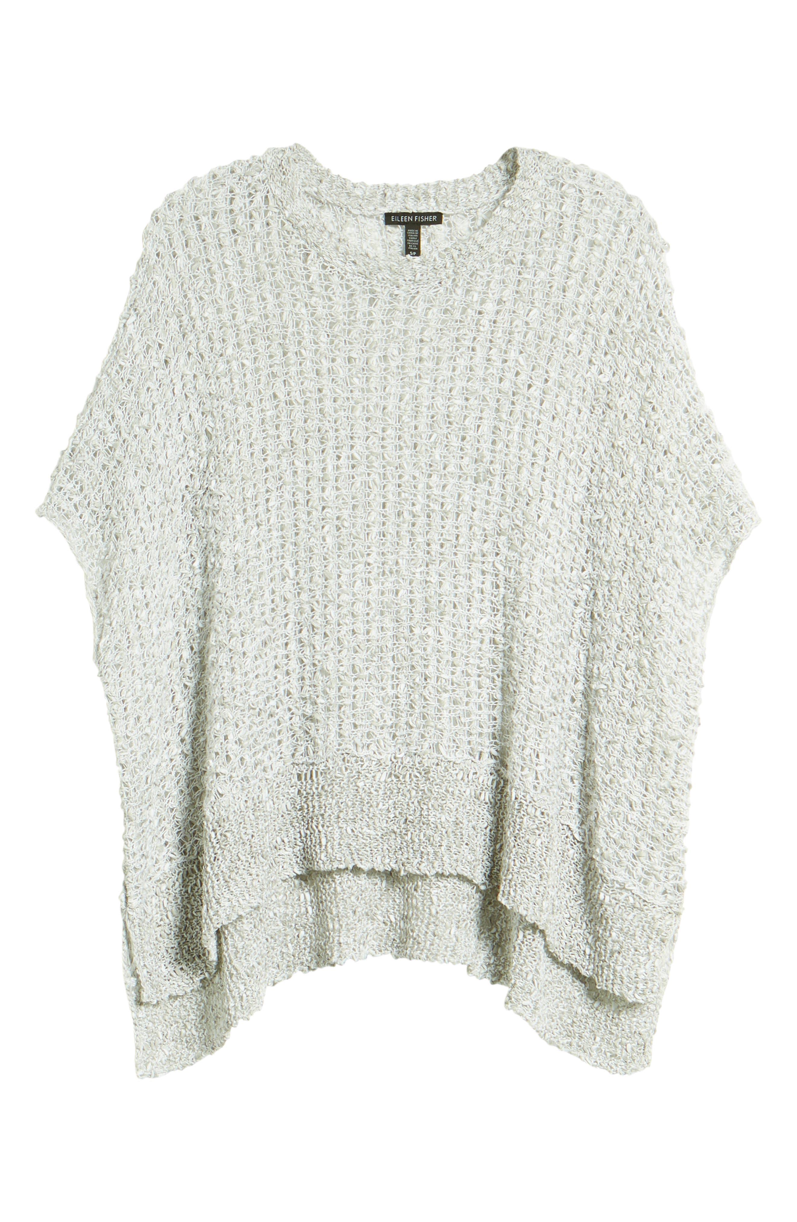 Organic Cotton & Linen Crochet Top,                             Alternate thumbnail 7, color,                             Dark Pearl
