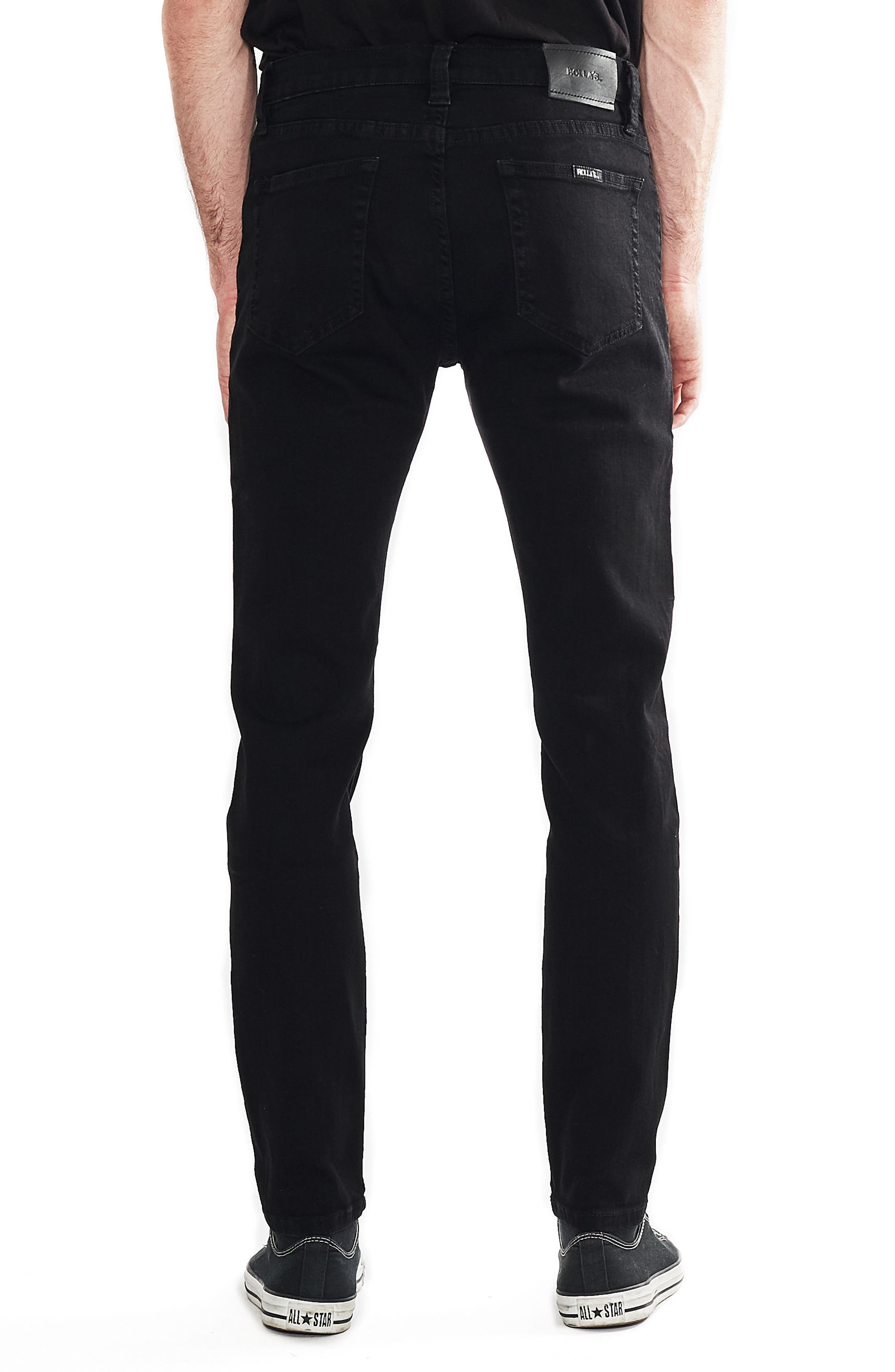 Stinger Skinny Fit Jeans,                             Alternate thumbnail 2, color,                             Black Gold