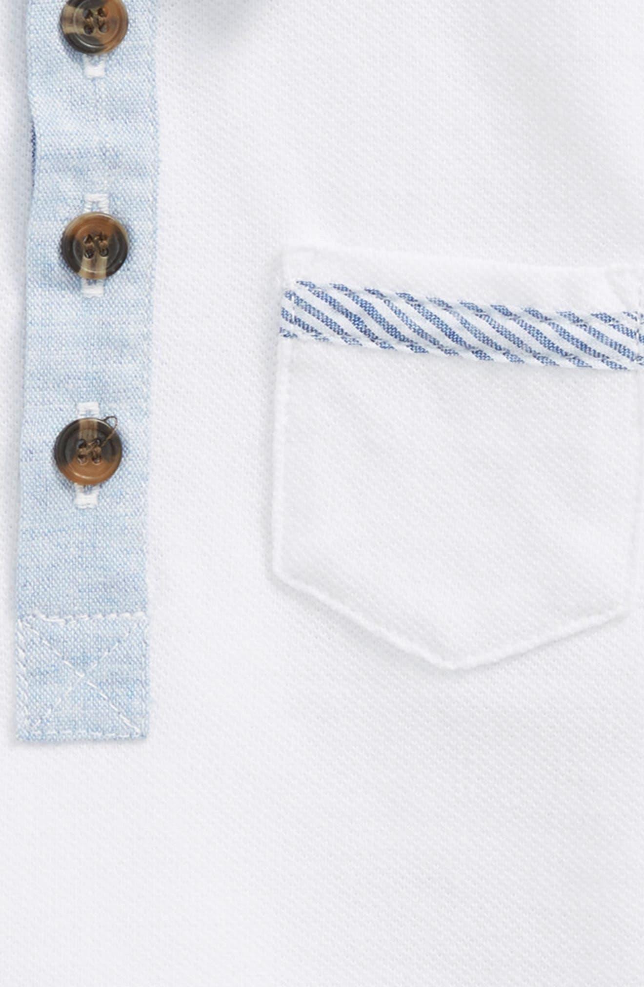 Polo,                             Alternate thumbnail 2, color,                             White