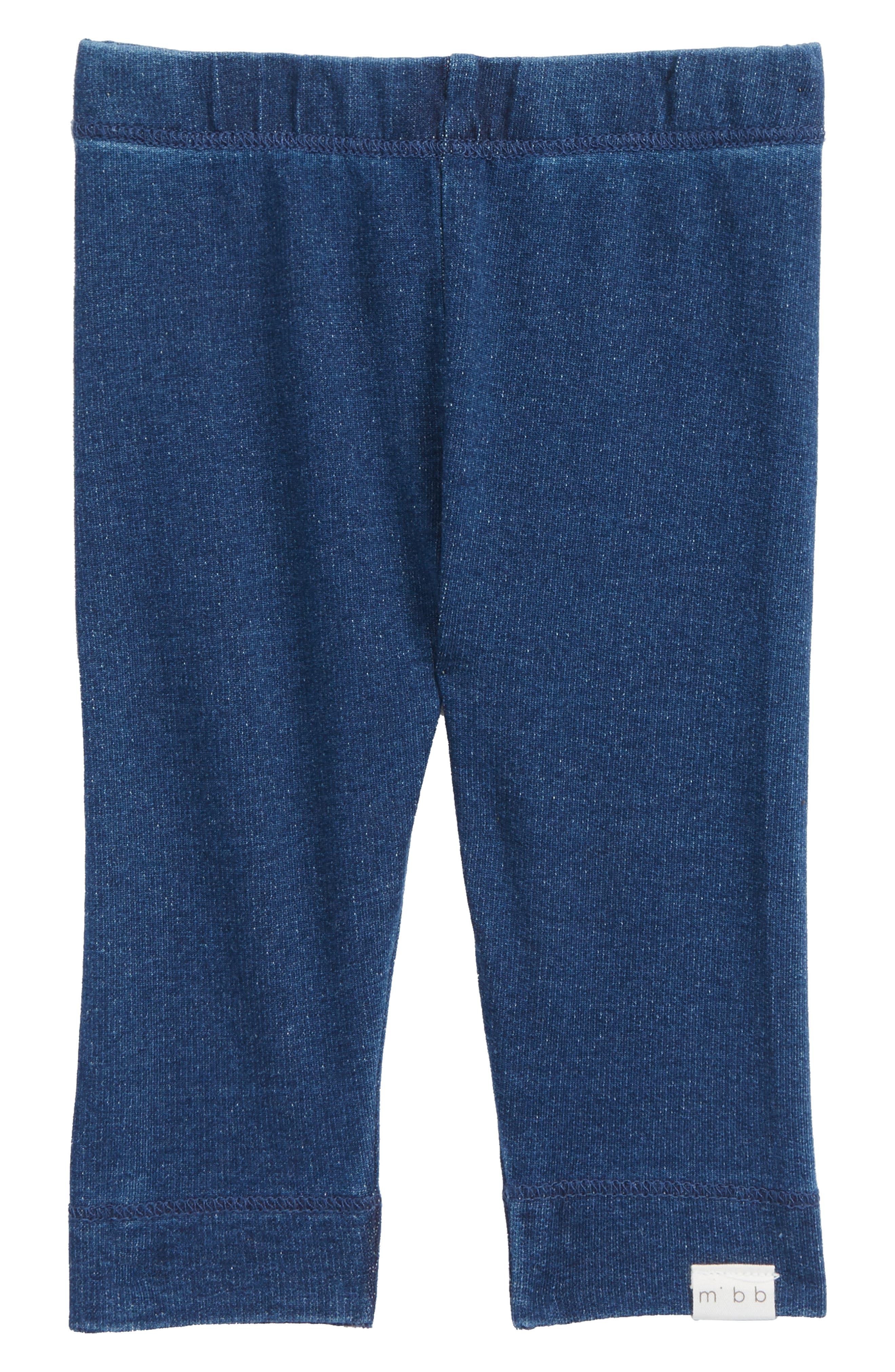 Knit Leggings,                         Main,                         color, Blue Denim