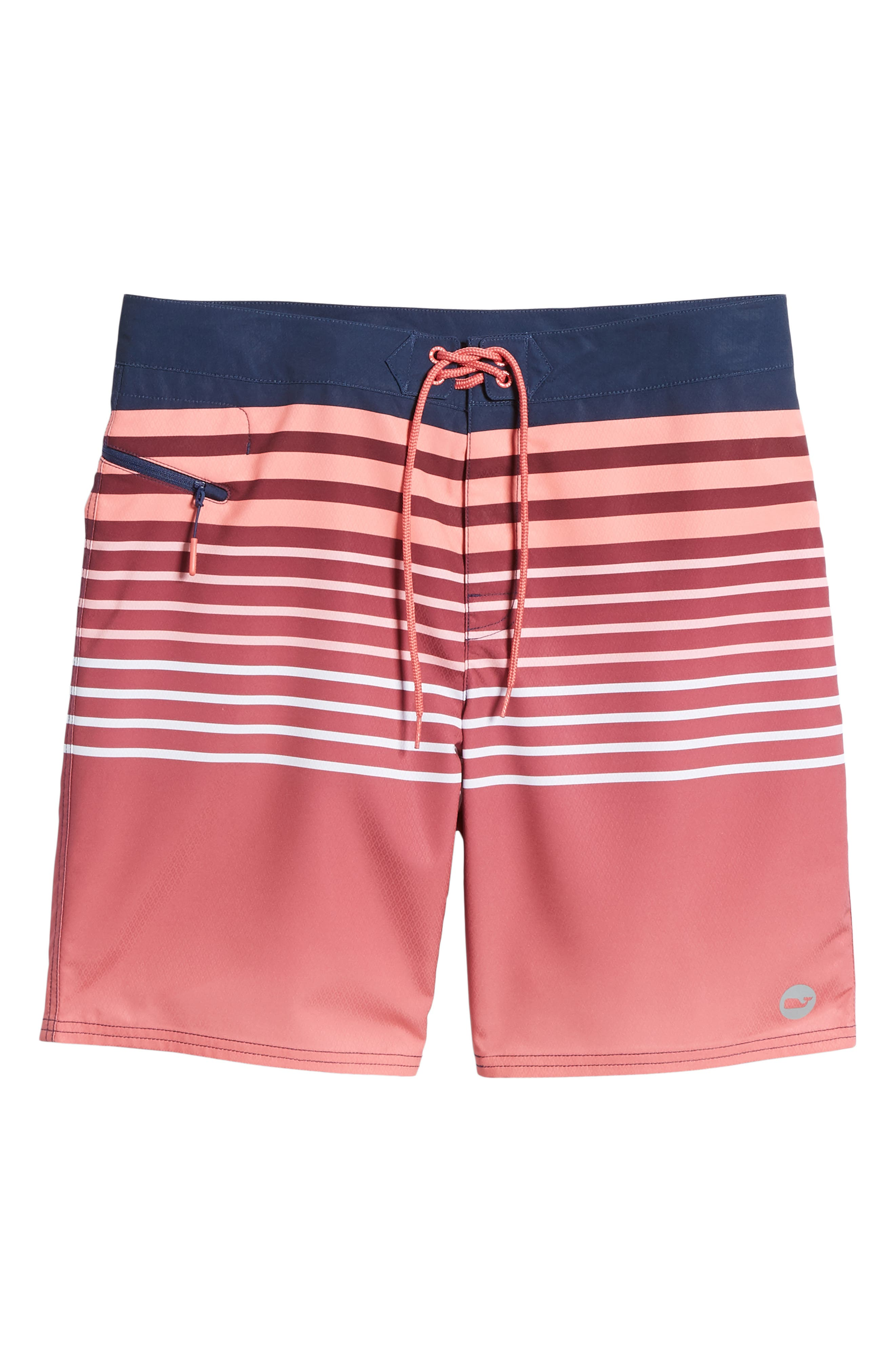 Surflodge Stripe Board Shorts,                             Main thumbnail 1, color,                             Jetty Red