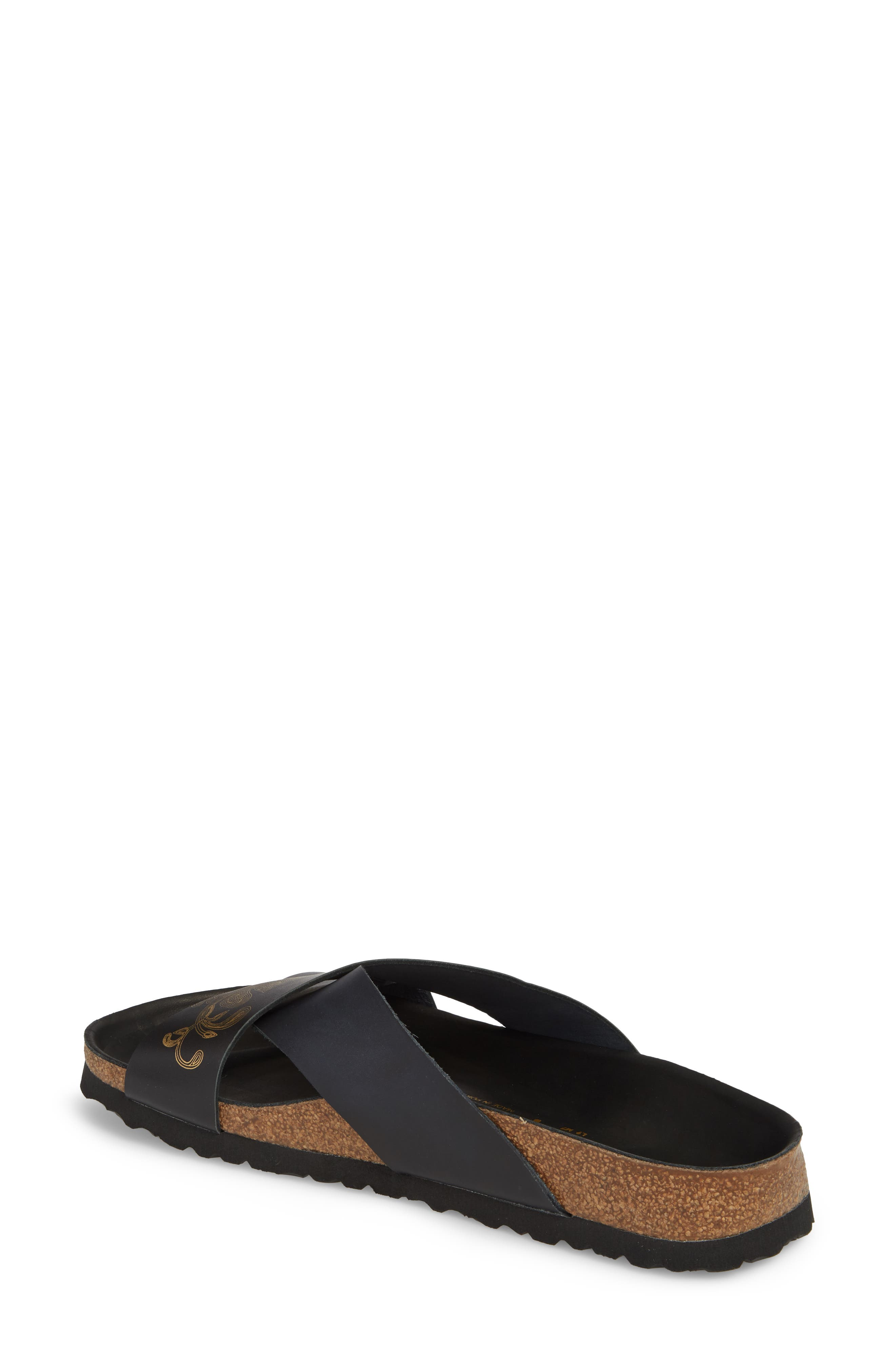 Papillio by Birkenstock Daytona Hex Slide Sandal,                             Alternate thumbnail 2, color,                             Ornaments Black Leather