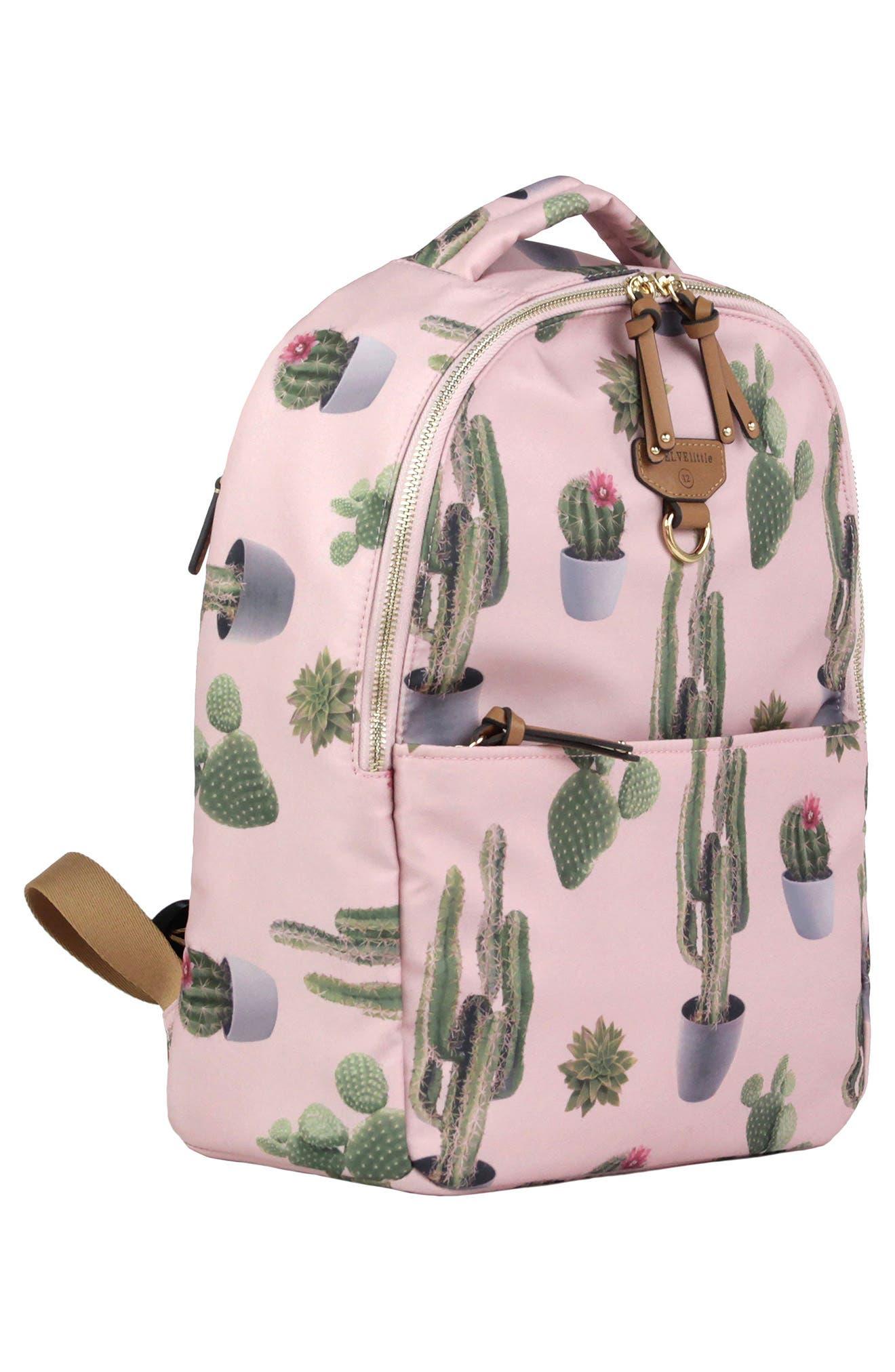 Mini-Go Water Resistant Diaper Backpack,                             Alternate thumbnail 3, color,                             Cactus