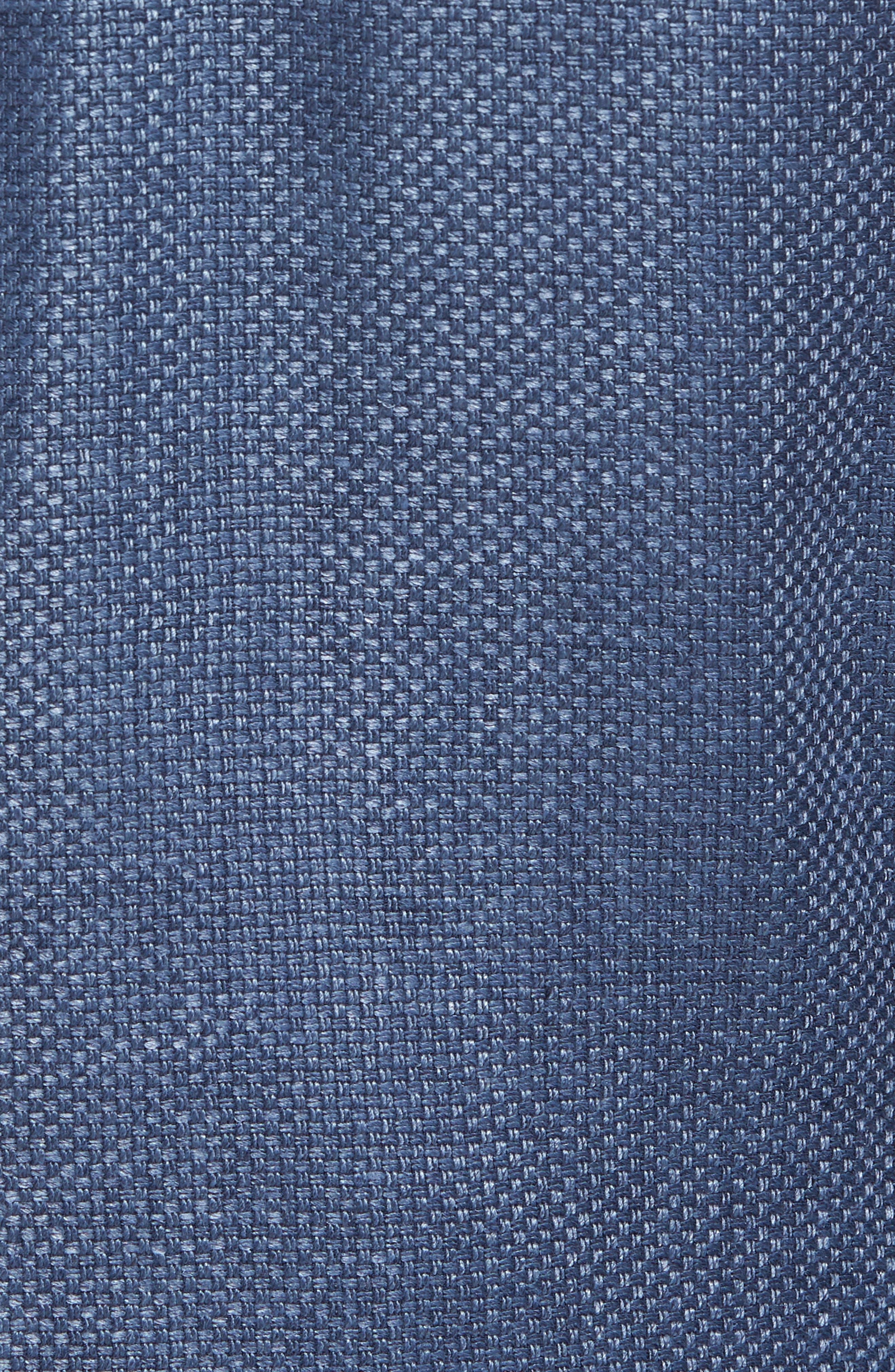 Trim Fit Wool & Linen Blazer,                             Alternate thumbnail 5, color,                             Blue