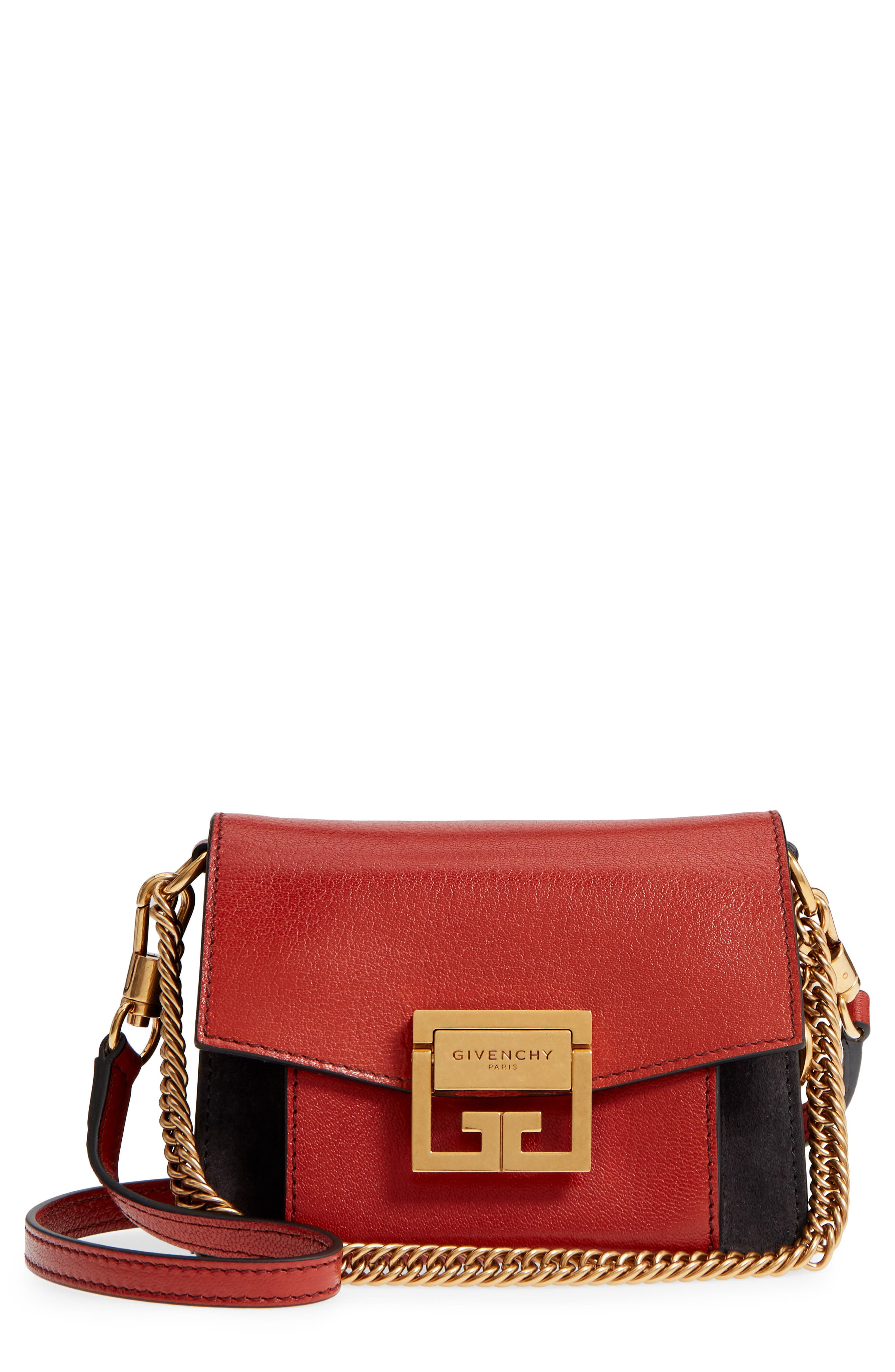 Givenchy Mini GV3 Leather & Suede Crossbody Bag