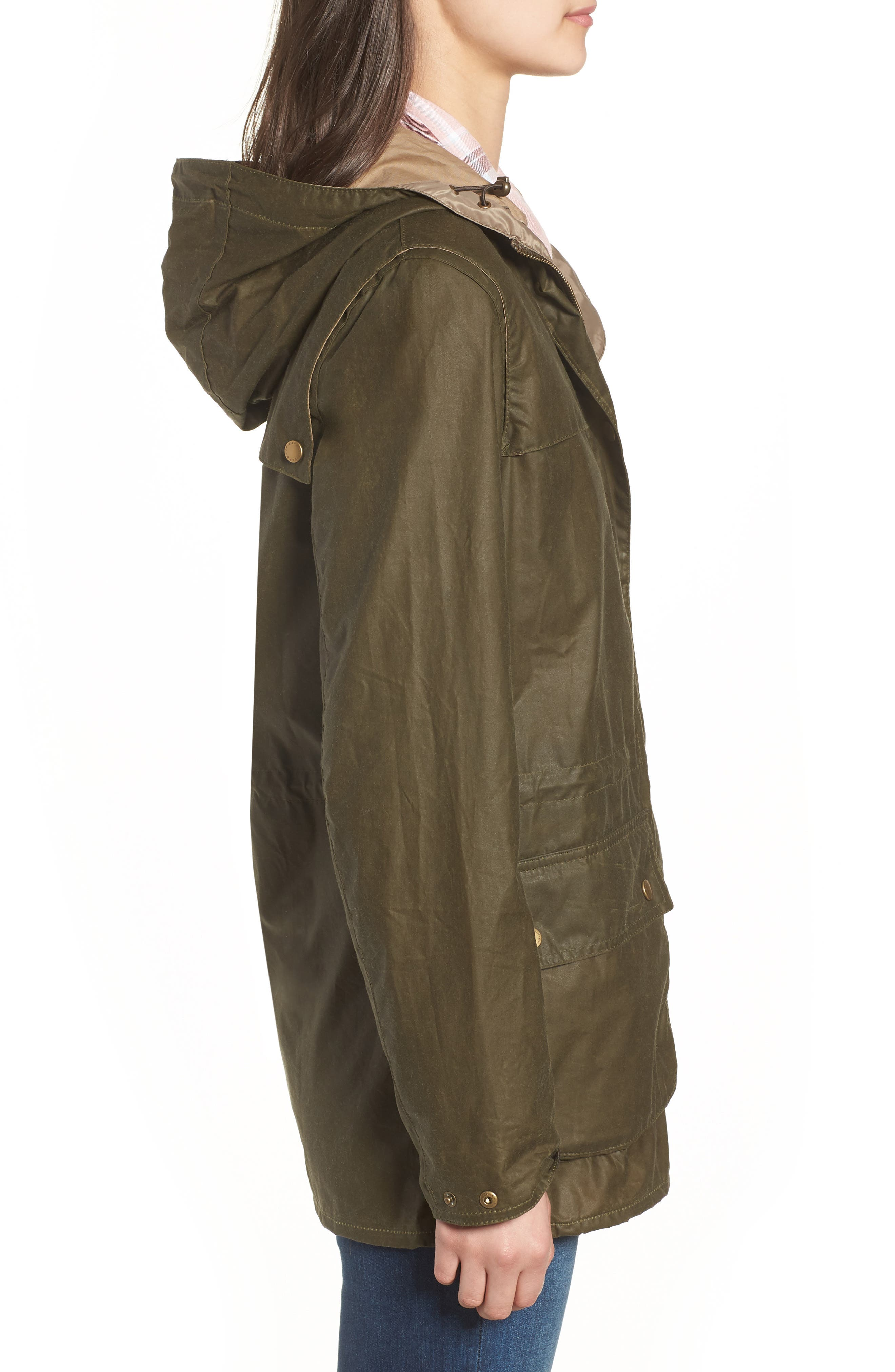 Durham Lightweight Wax Cotton Jacket,                             Alternate thumbnail 4, color,                             Archive Olive