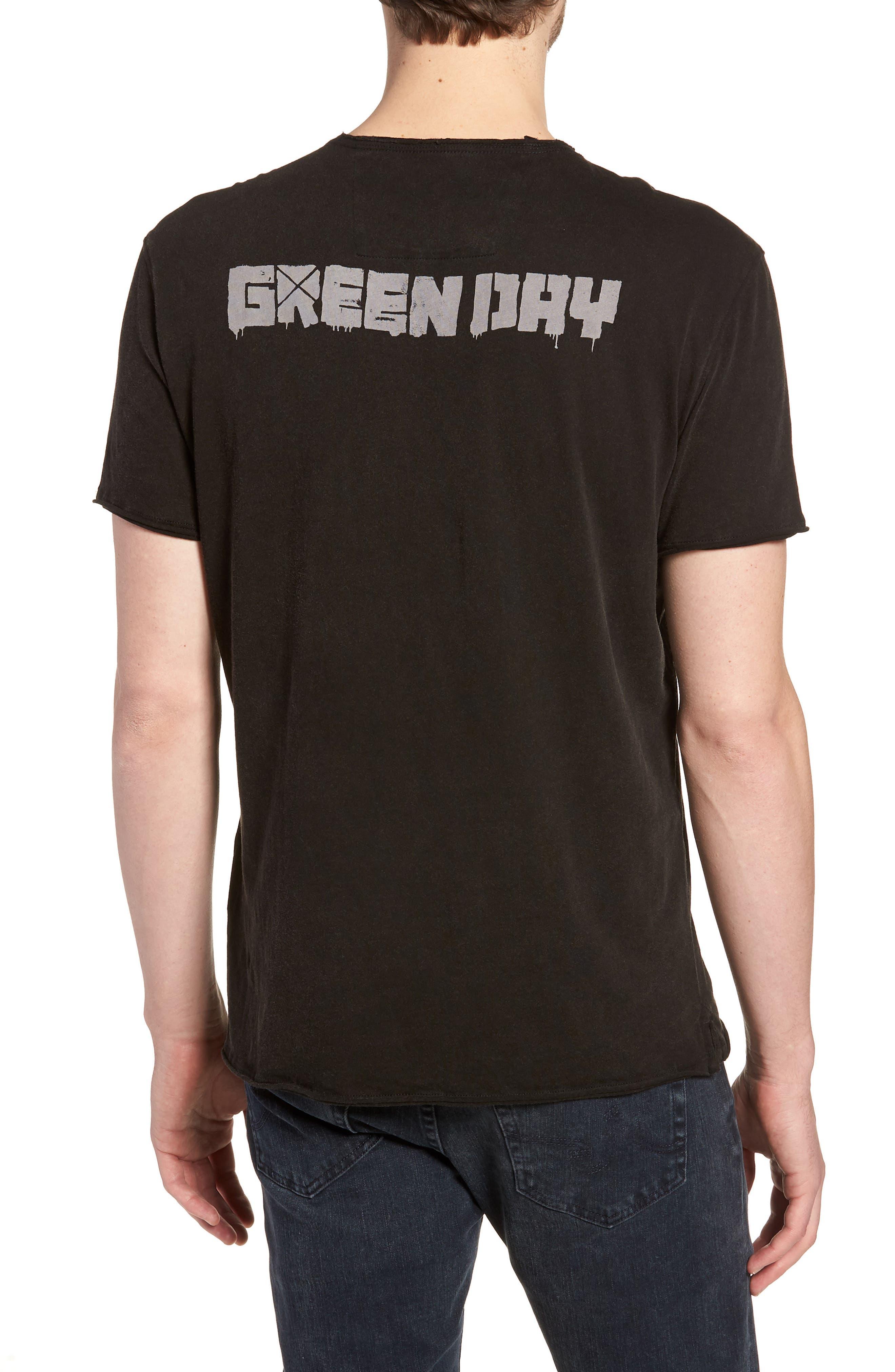 Green Day T-Shirt,                             Alternate thumbnail 2, color,                             Black