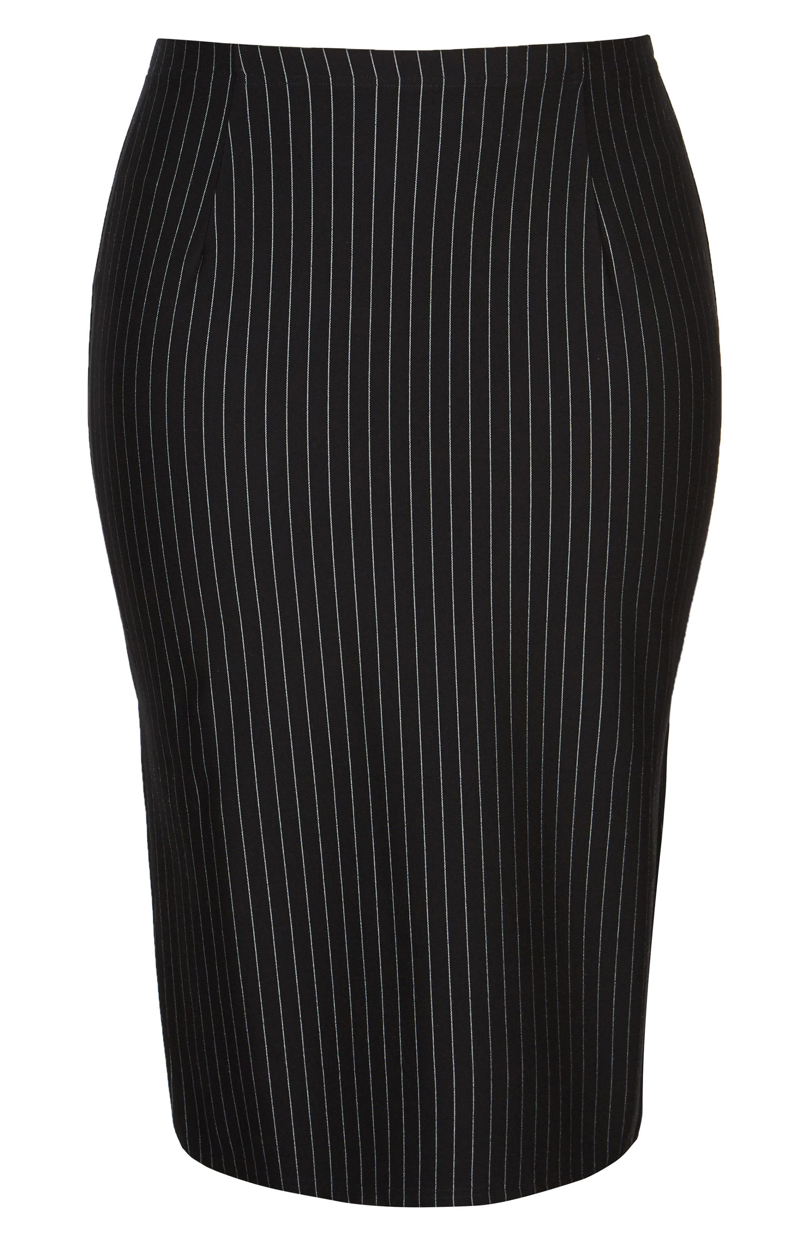 Chic City On Point Pencil skirt,                             Alternate thumbnail 3, color,                             Pin Stripe
