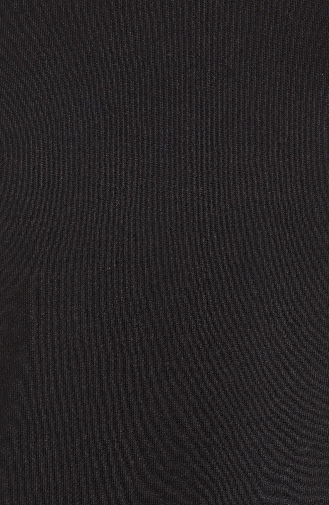 Ruffle Lounge Top,                             Alternate thumbnail 6, color,                             Faded Black