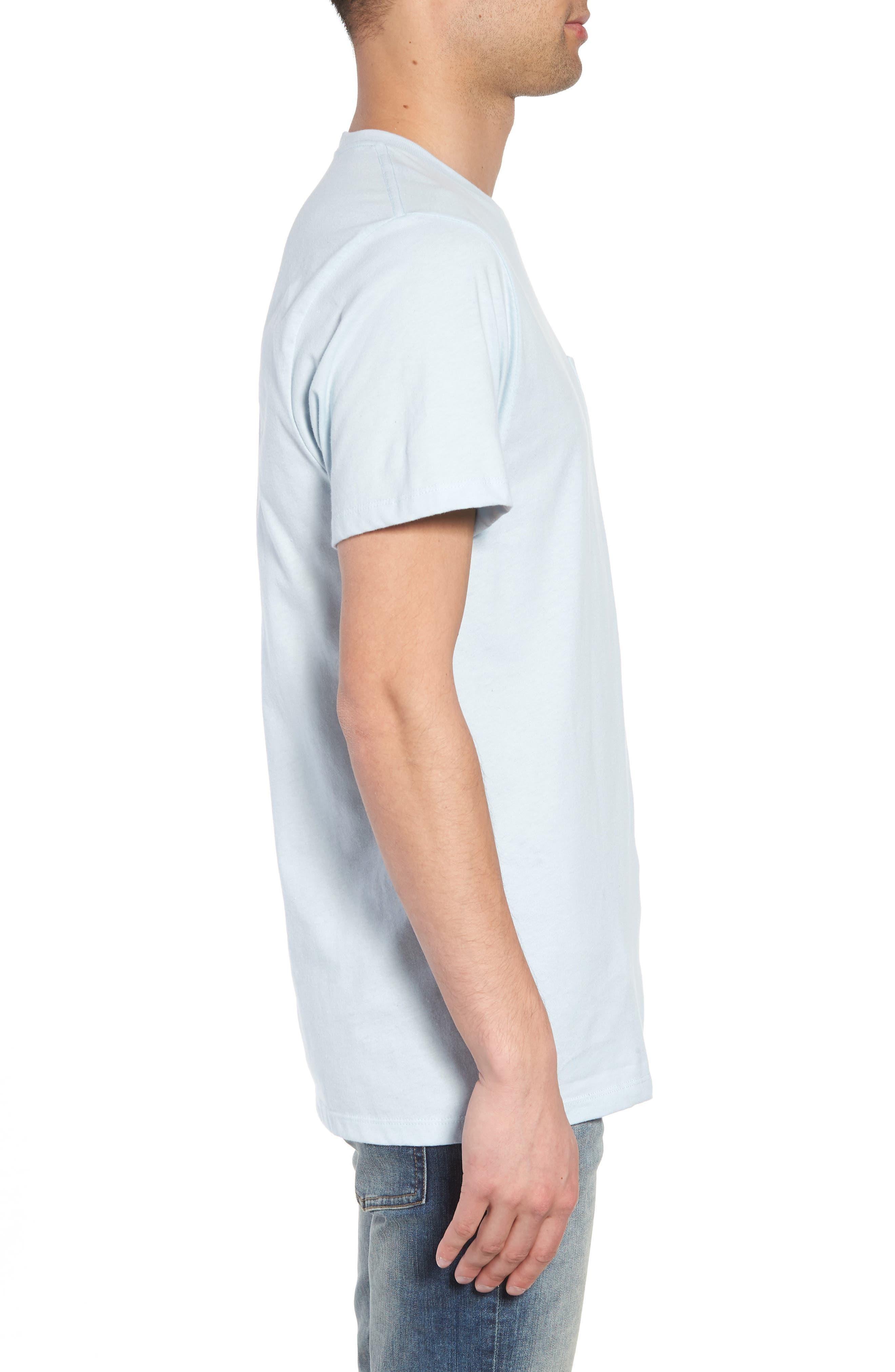 Yusuke Palms Graphic T-Shirt,                             Alternate thumbnail 3, color,                             Baby Blue