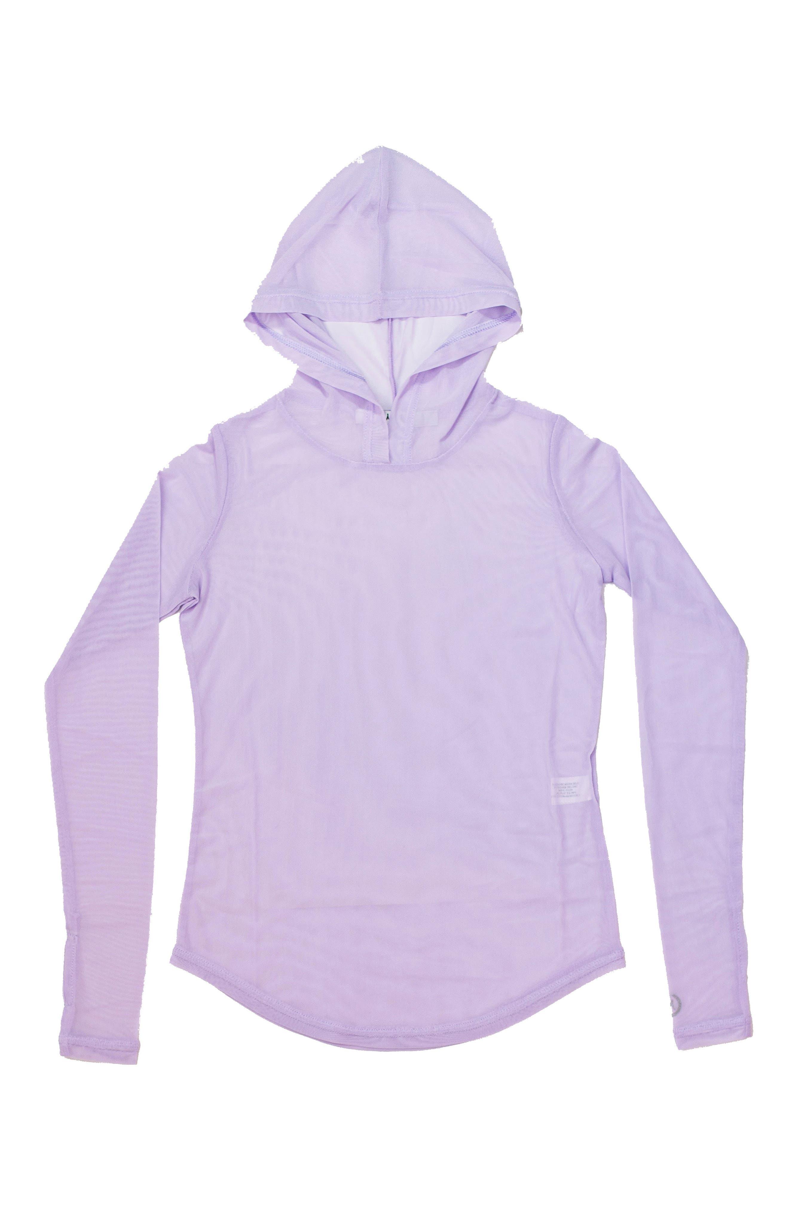 Ritu Mesh Hoodie for Girls,                         Main,                         color, Pastel Lilac