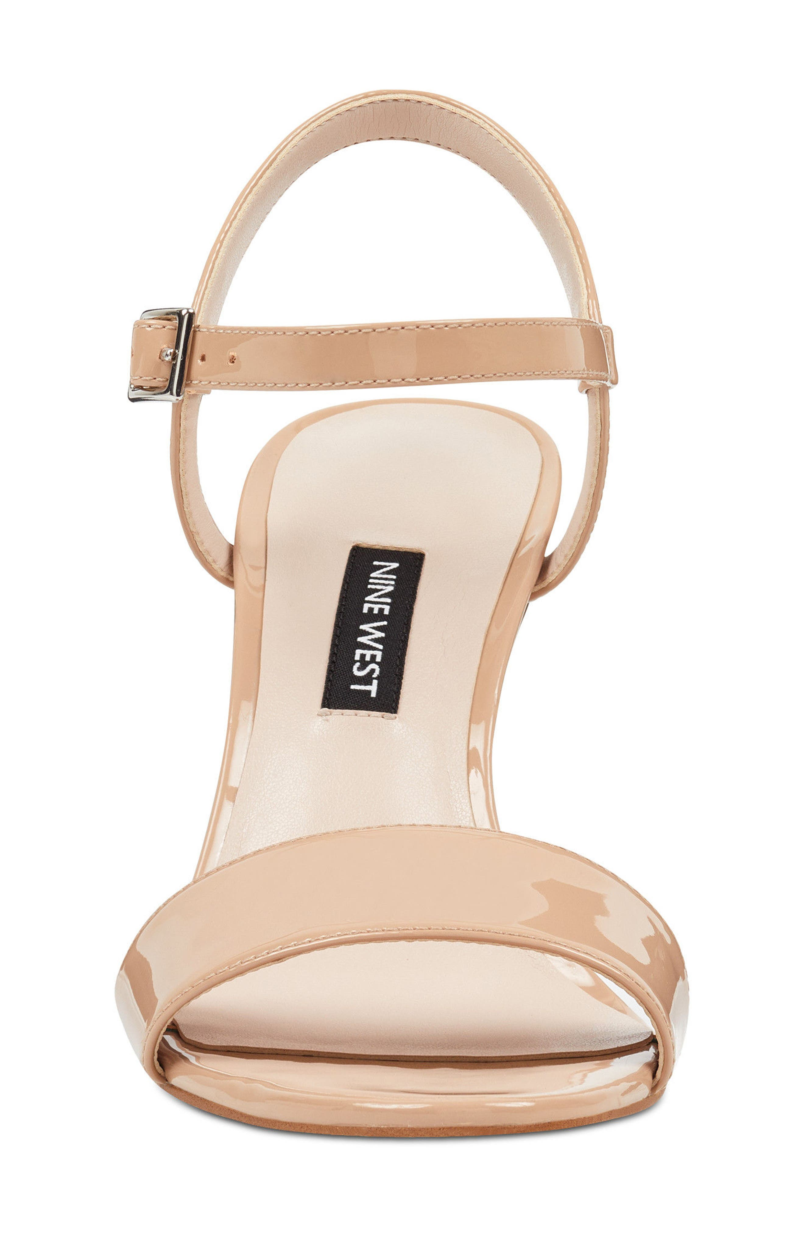 Feisty Ankle Strap Sandal,                             Alternate thumbnail 4, color,                             Nude Suede