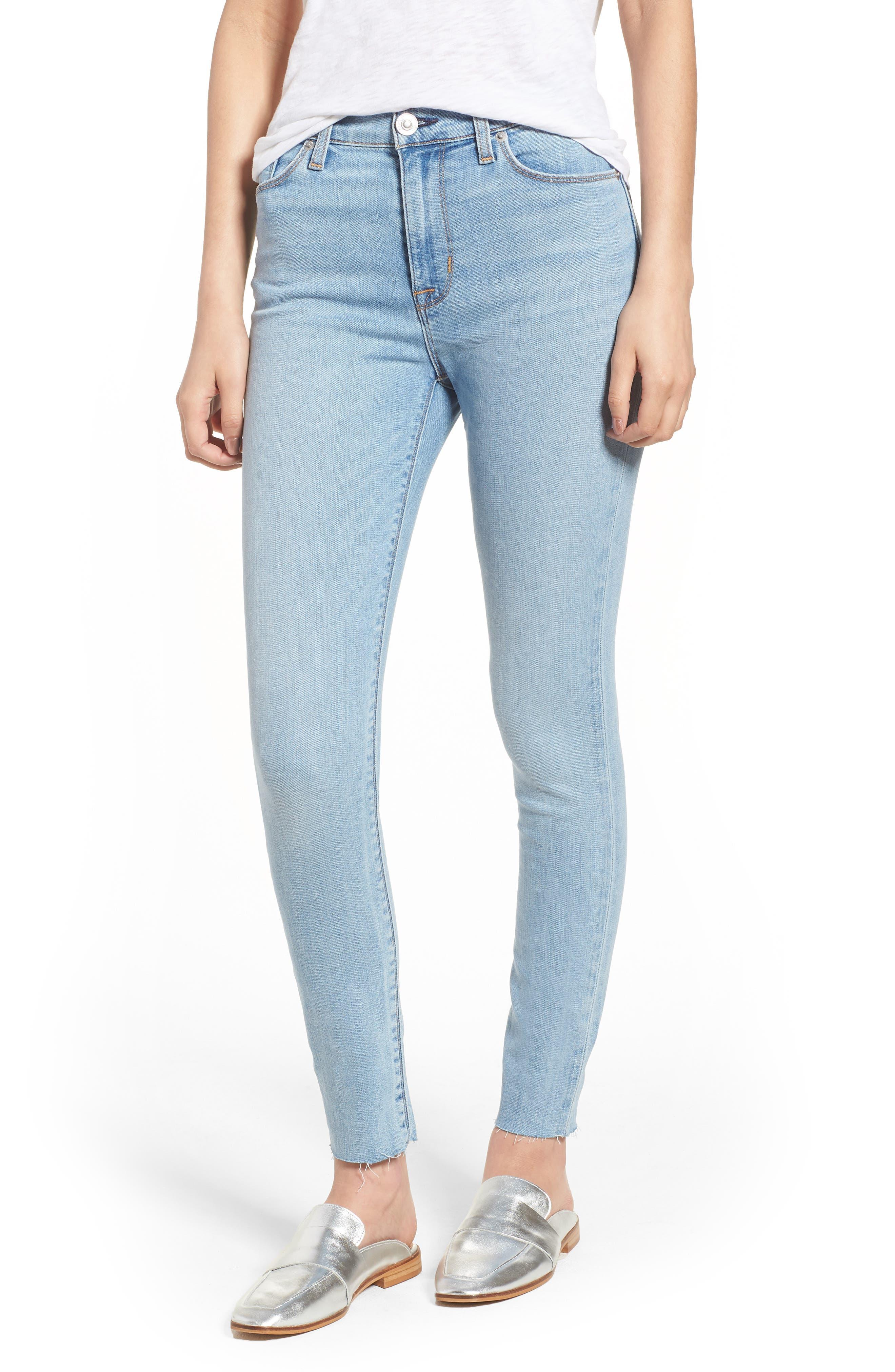 Hudson Barbara High Waist Ankle Skinny Jeans (Gemini)