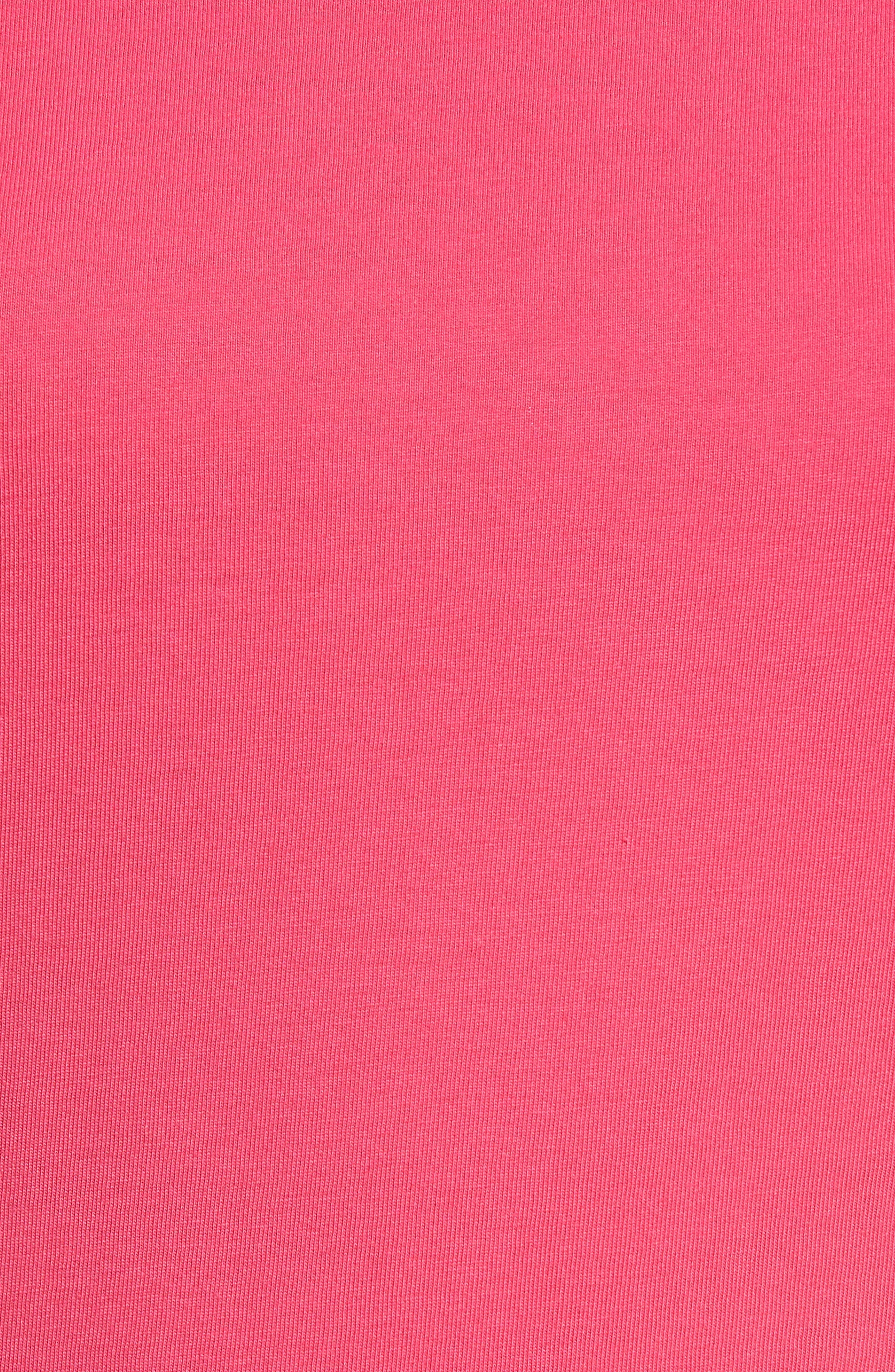 Ruffle Sleeve Tee,                             Alternate thumbnail 6, color,                             Pink Cabaret