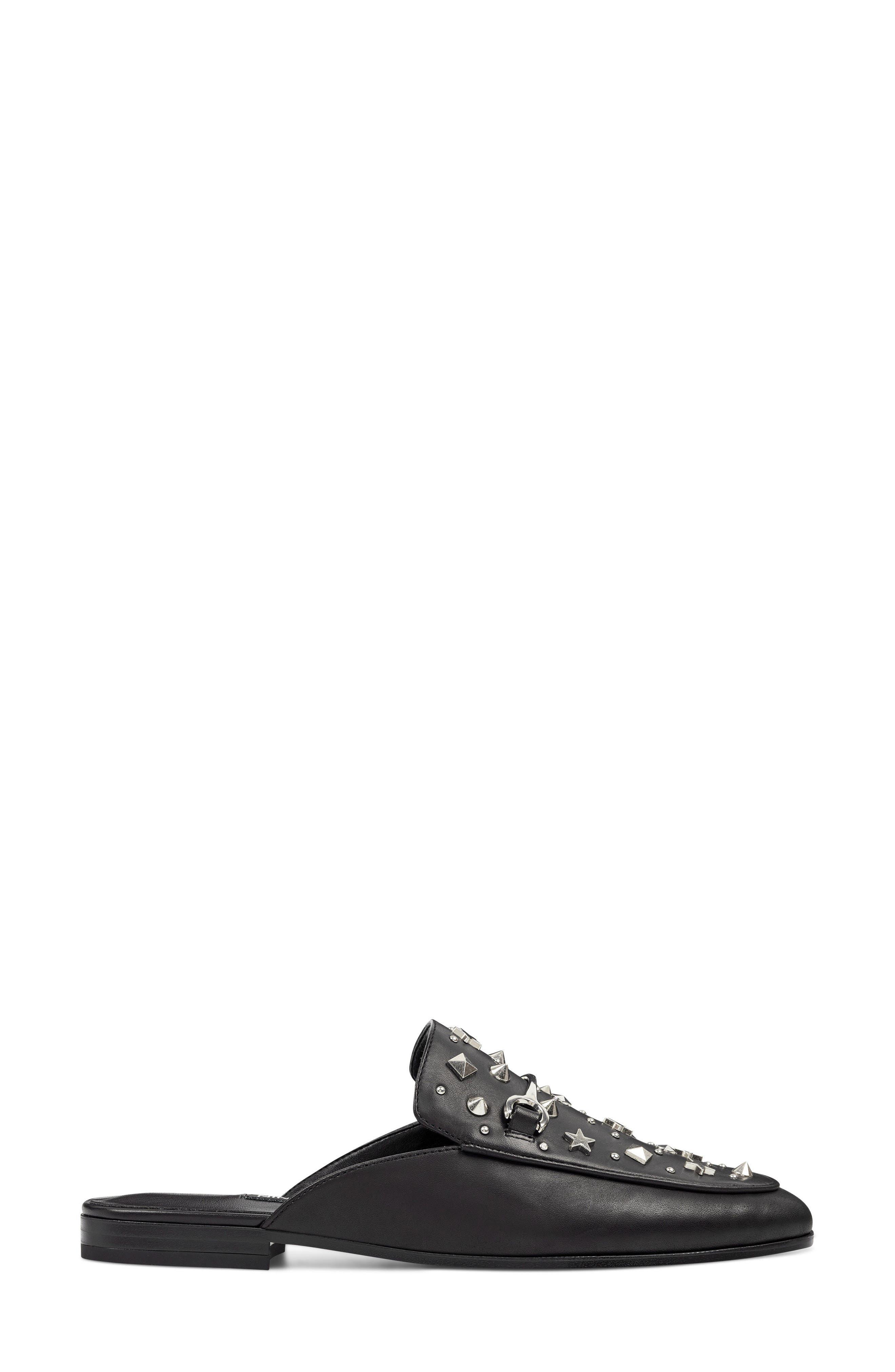 Welynne Mule,                             Alternate thumbnail 3, color,                             Black Leather