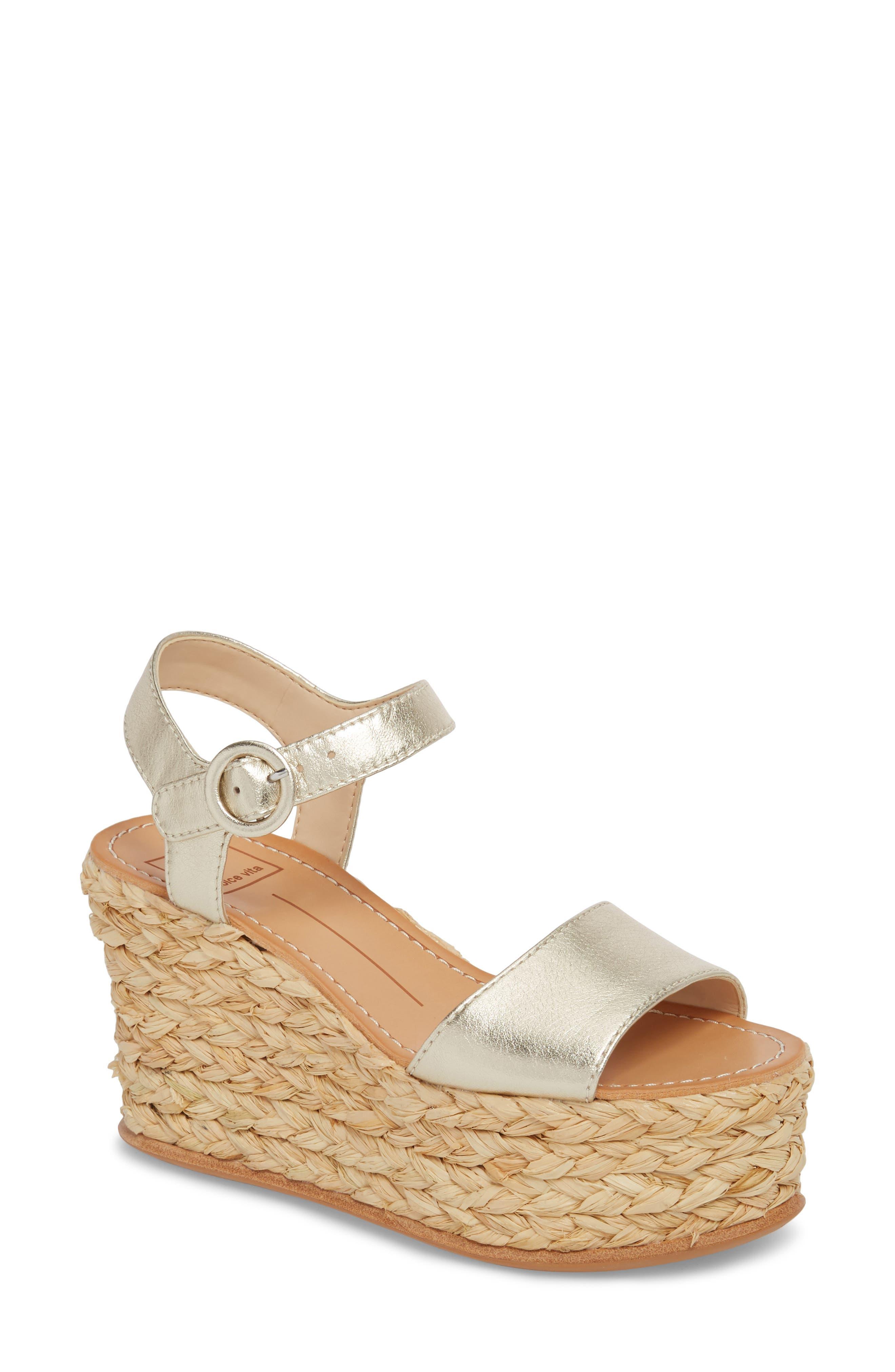 Dane Suede Platform Wedge Espadrille Sandals TWBLrV