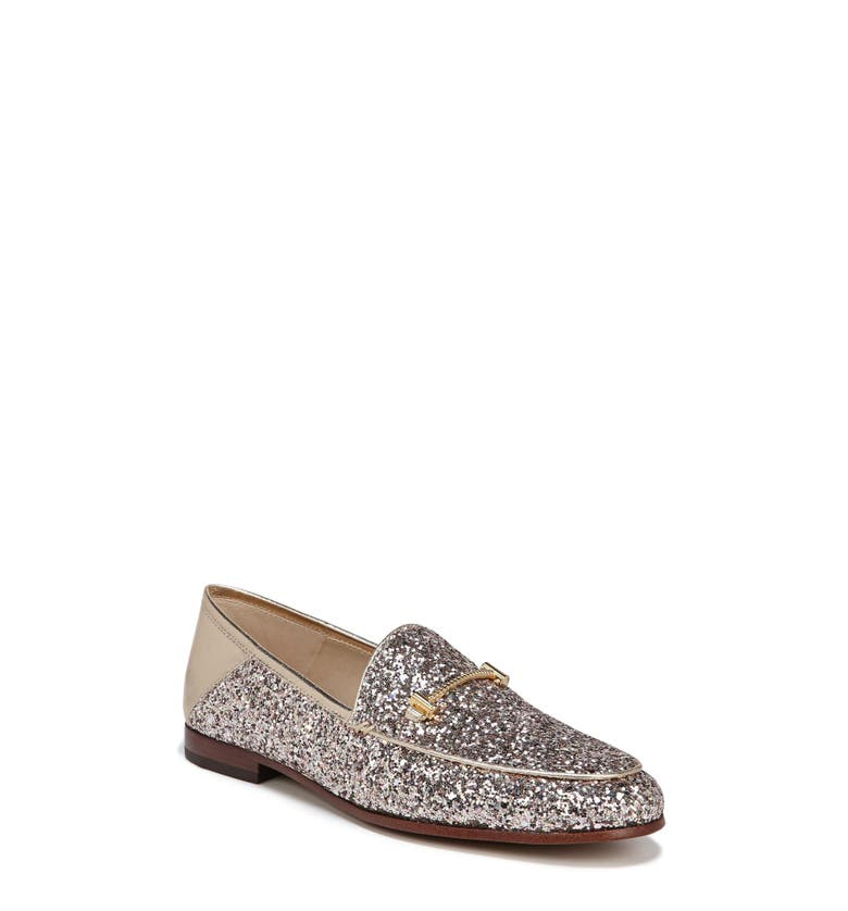 Lior Loafer,                         Main,                         color, Molten Gold Glitter Fabric
