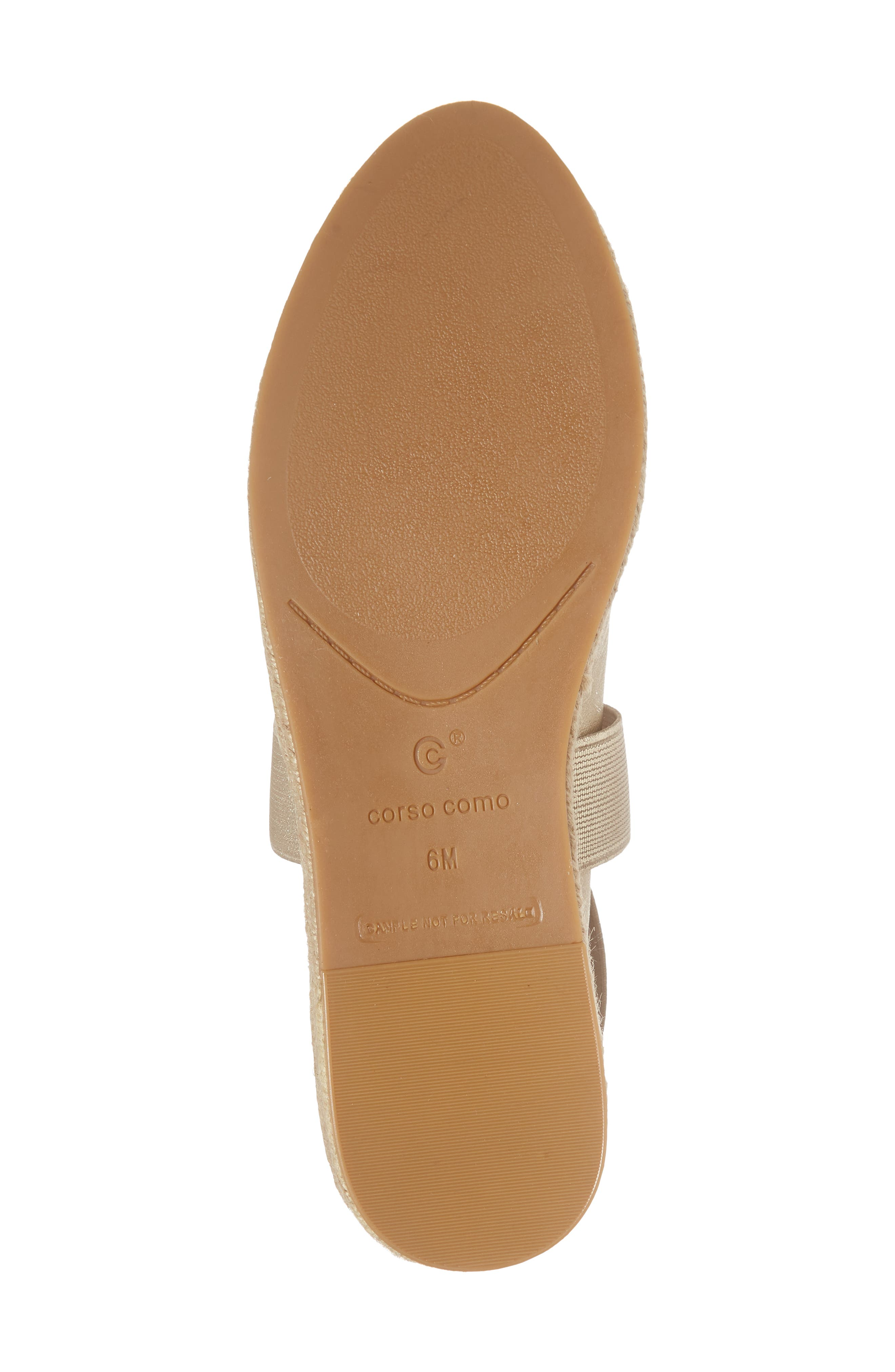 Bellah Espadrille Wedge,                             Alternate thumbnail 6, color,                             Soft Gold Leather