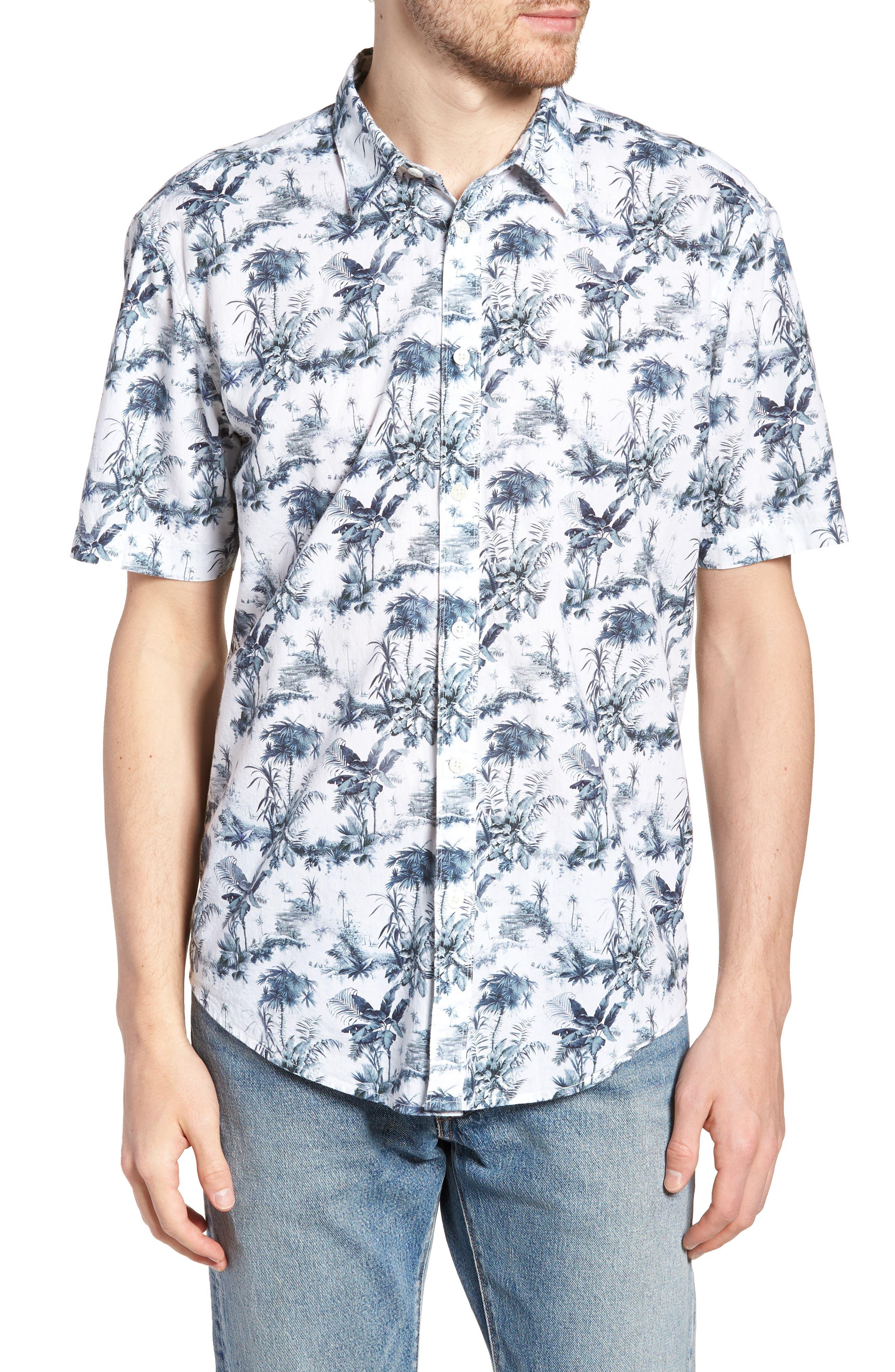 Waiki Regular Fit Short Sleeve Sport Shirt,                         Main,                         color, White