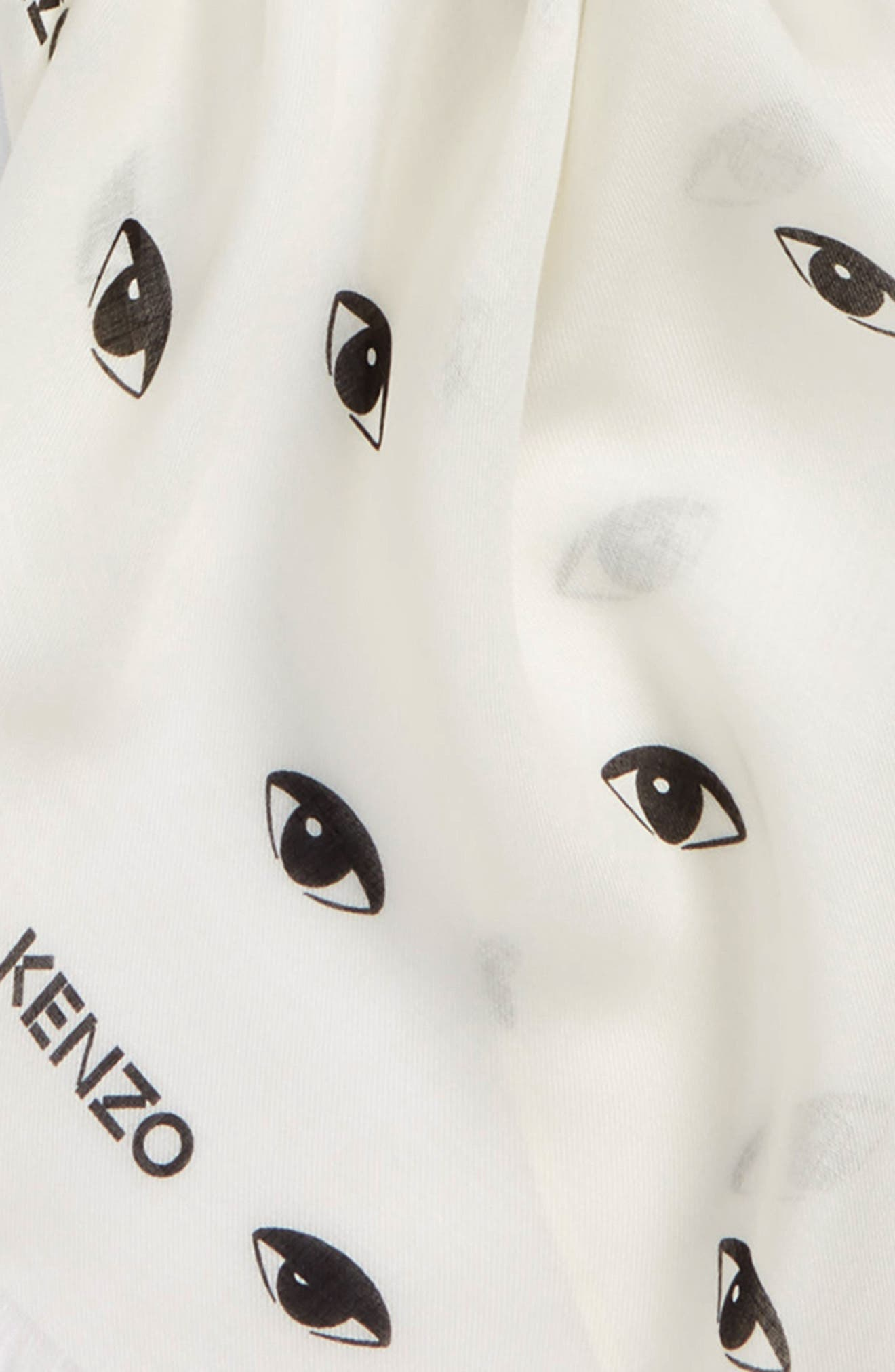 Eyes All Over Scarf,                             Alternate thumbnail 3, color,                             White