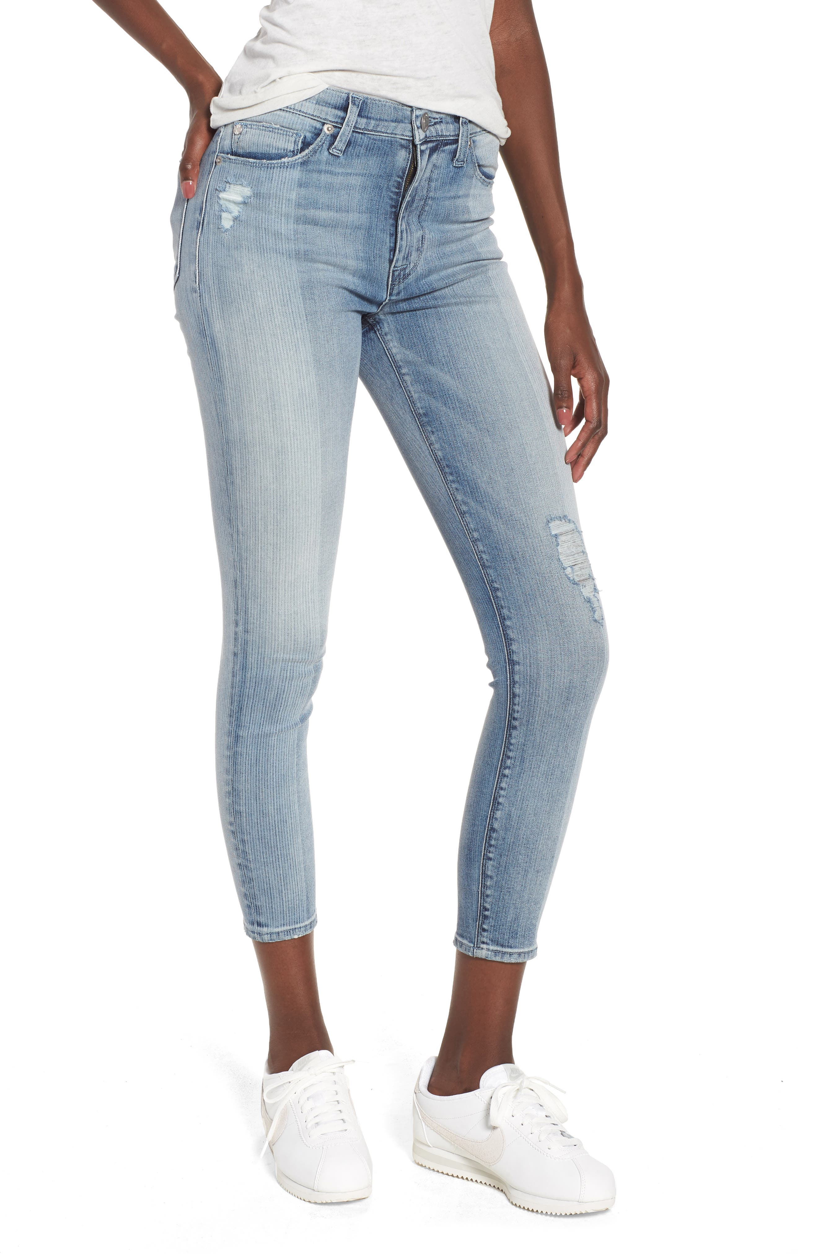Barbara High Waist Crop Skinny Jeans,                         Main,                         color, Purest Expression