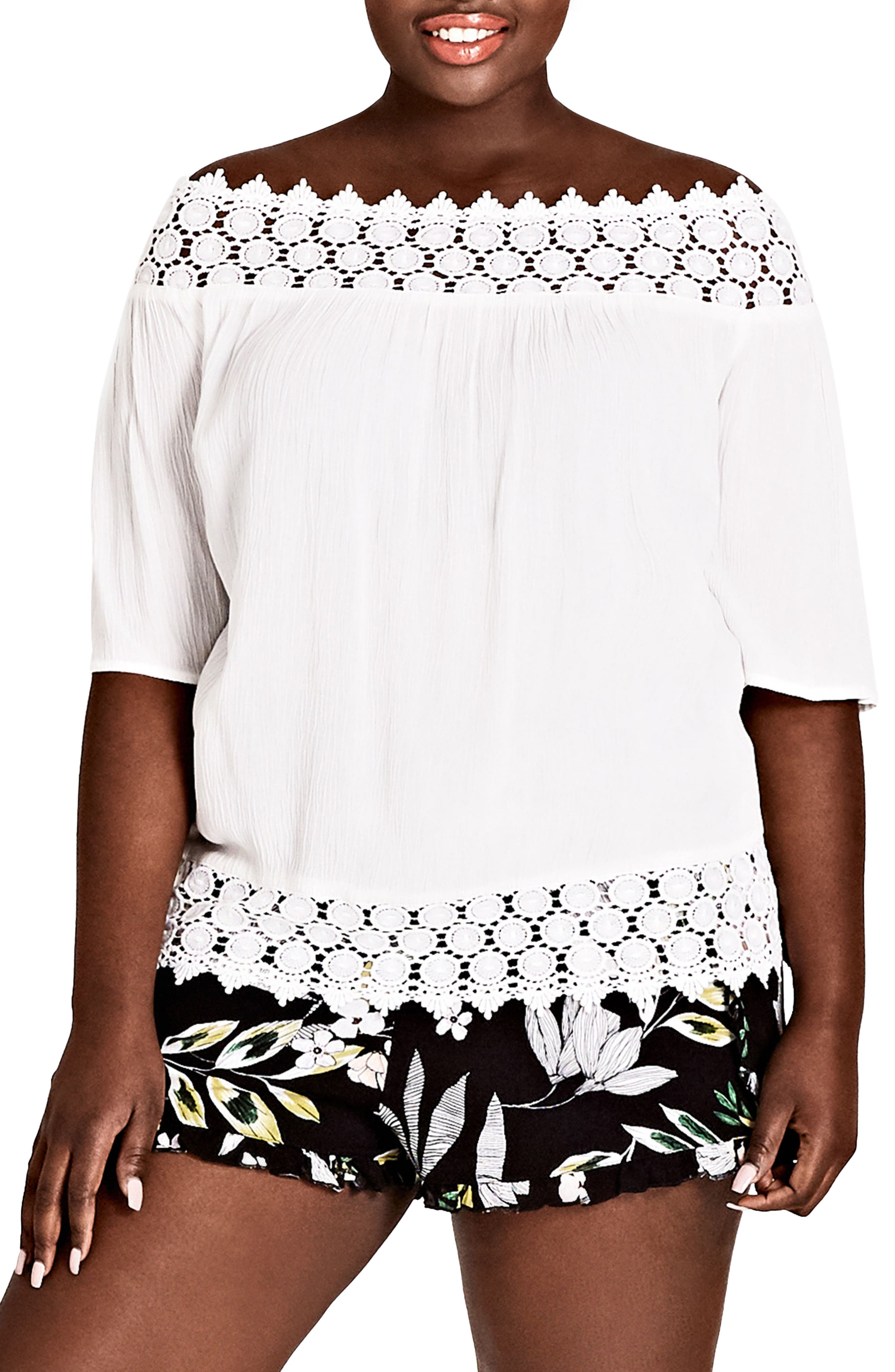 Maui Floral Pull-On Shorts,                             Alternate thumbnail 3, color,                             Maui Floral