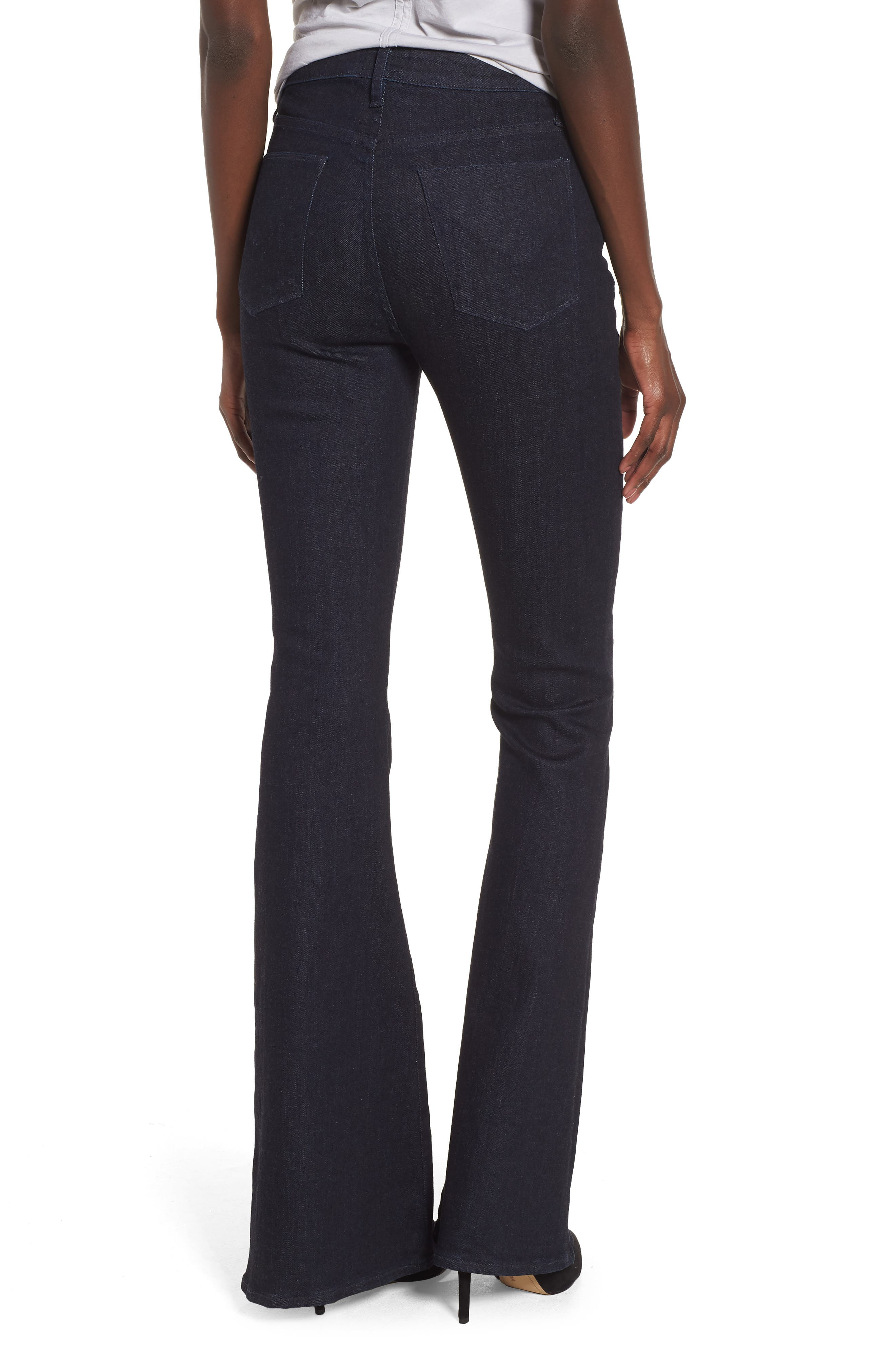 Holly High Waist Flare Jeans,                             Alternate thumbnail 2, color,                             Infuse
