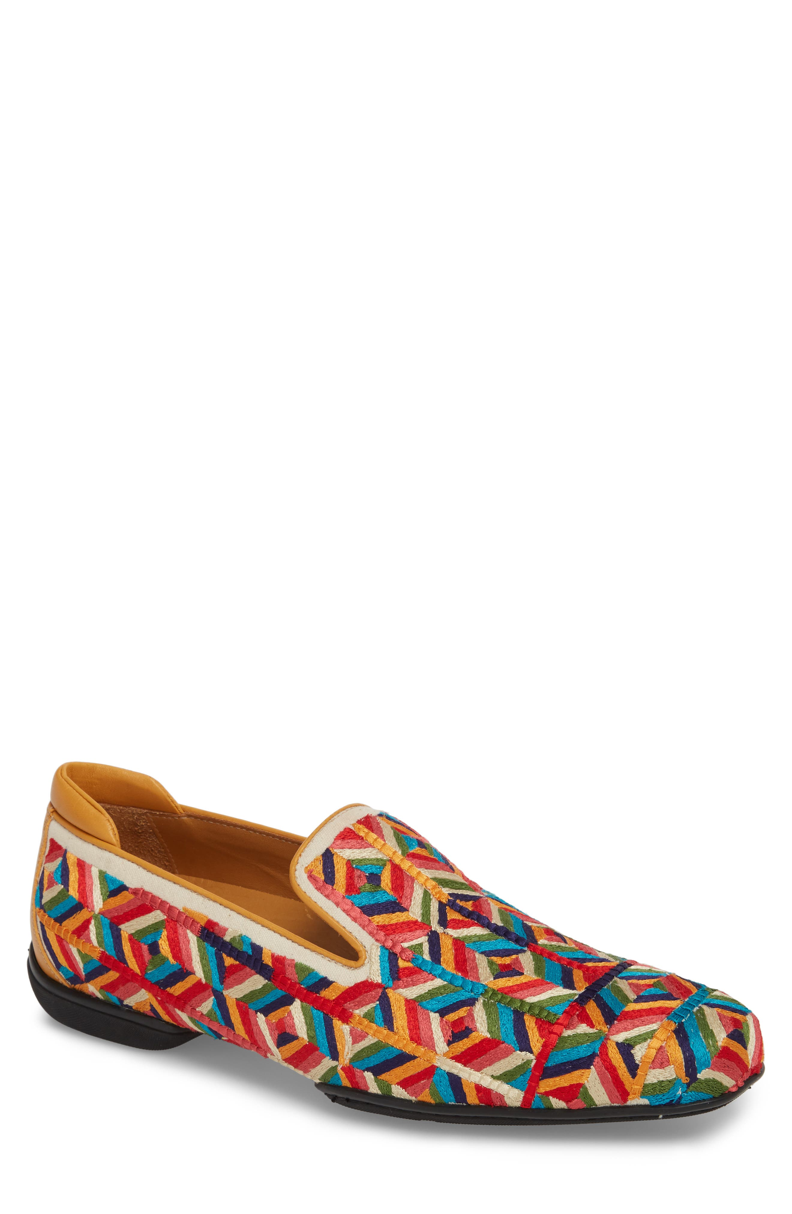 Verge Venetian Loafer,                             Main thumbnail 1, color,                             Yellow Fabric