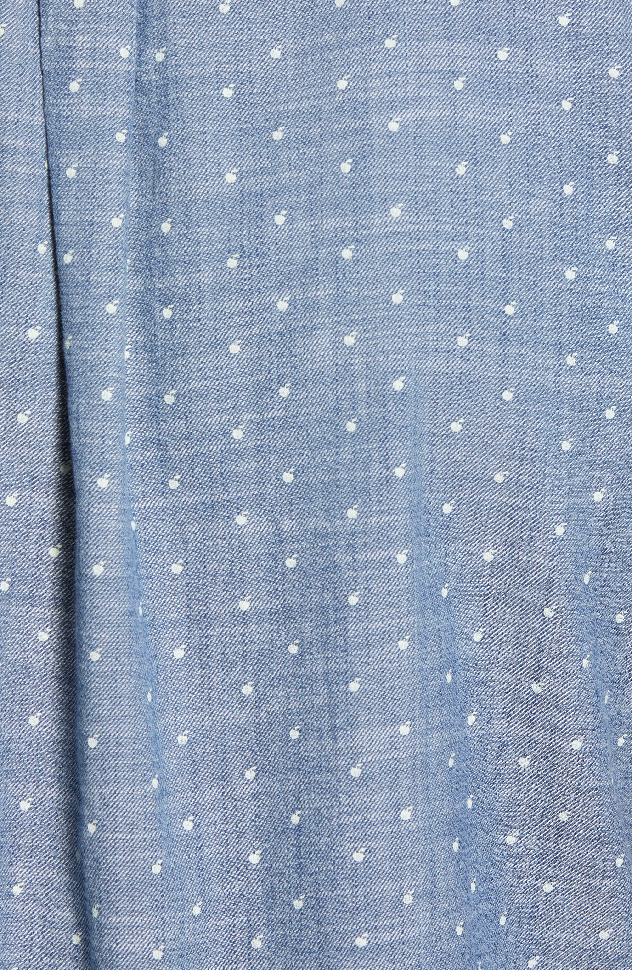 Falling Apple Slub Twill Sport Shirt,                             Alternate thumbnail 5, color,                             Blue Twill