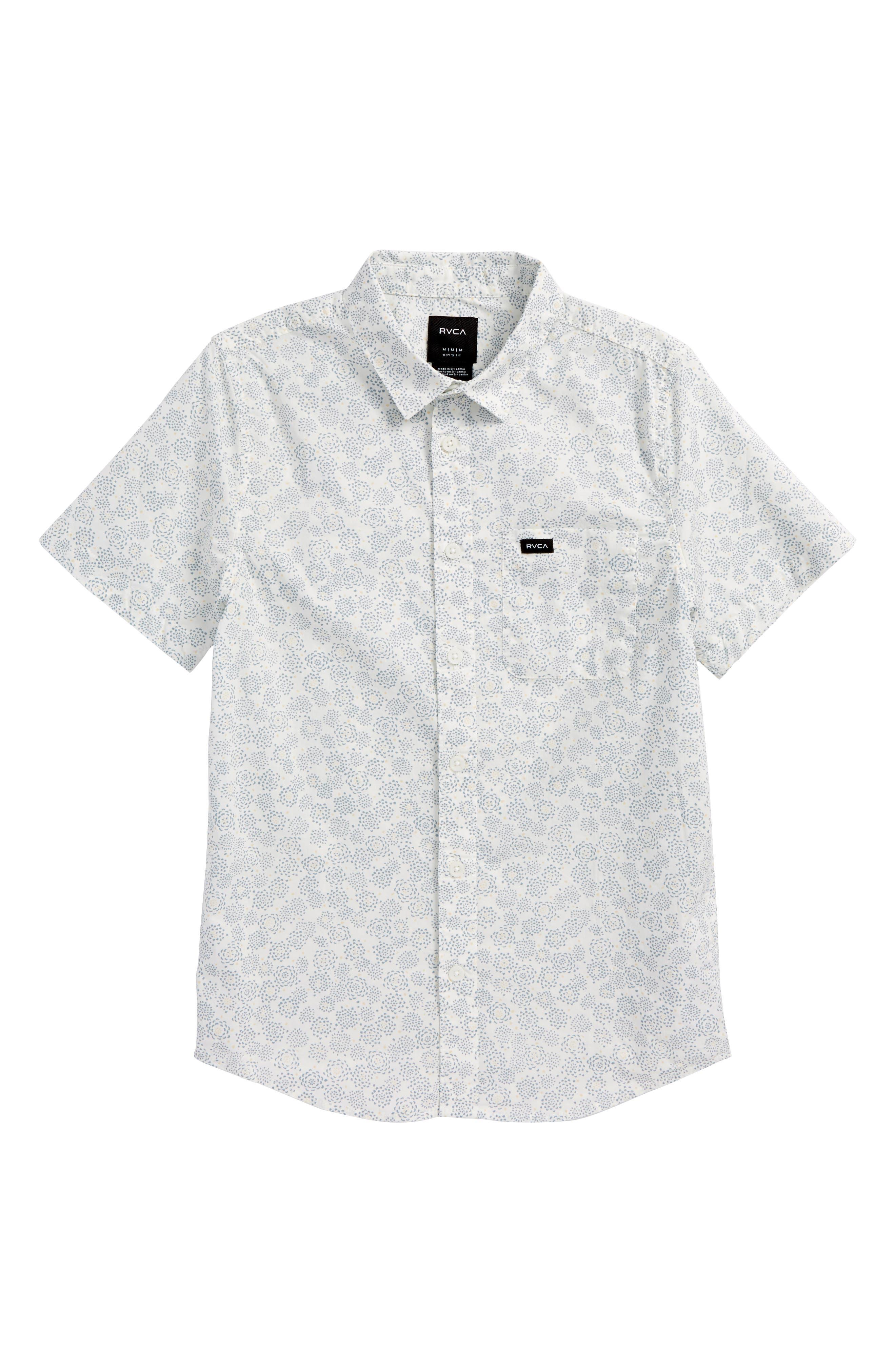 Alternate Image 1 Selected - RVCA Cleta Woven Shirt (Big Boys)