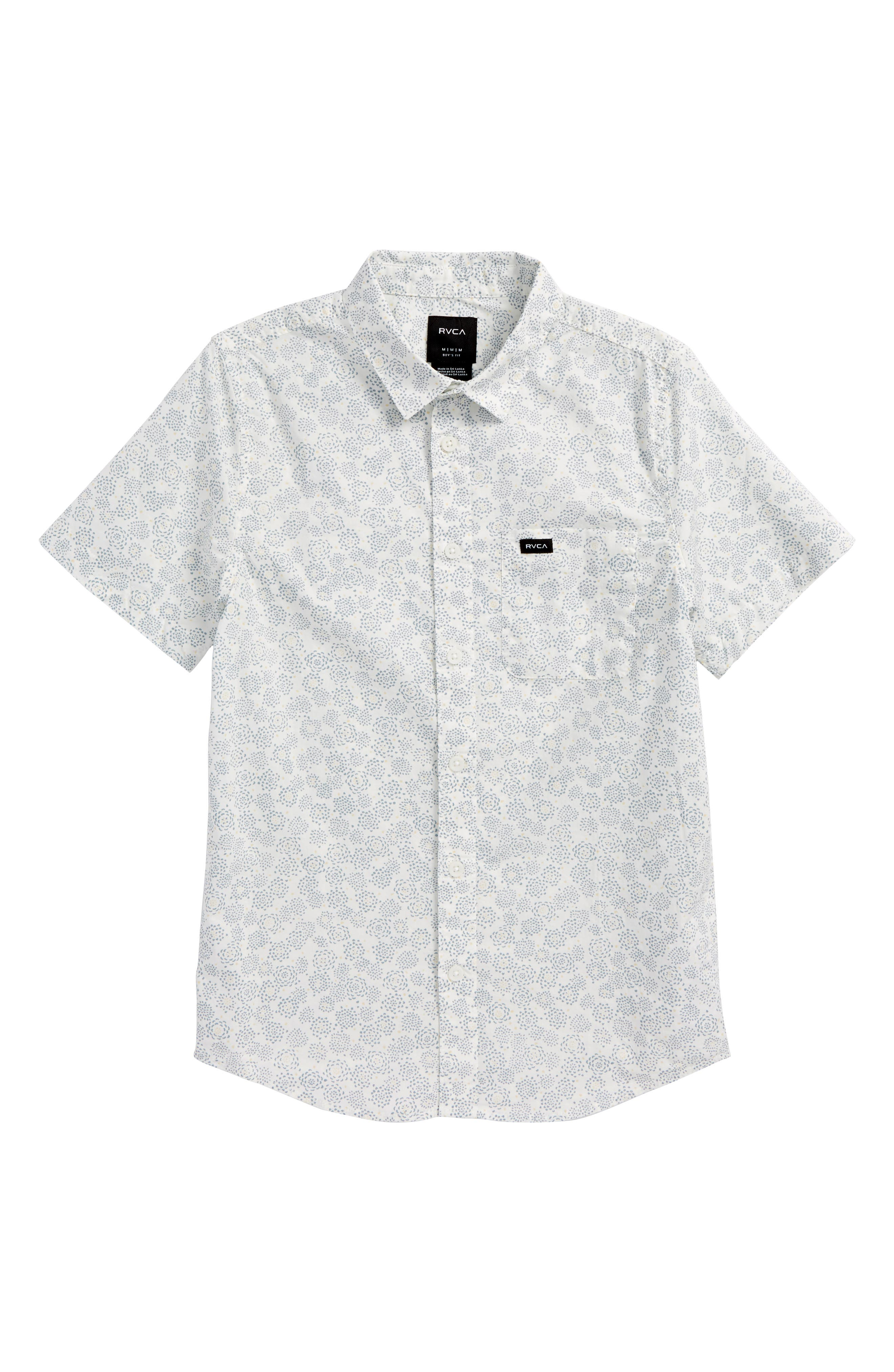 Main Image - RVCA Cleta Woven Shirt (Big Boys)