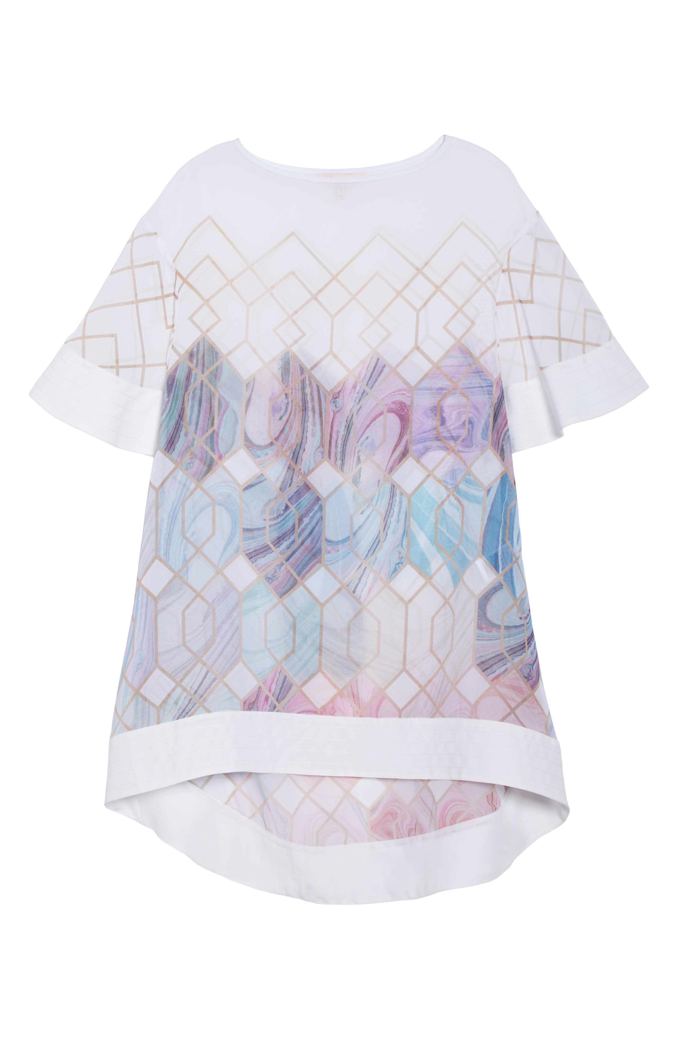 Sea of Clouds Cover-Up Tunic,                             Alternate thumbnail 6, color,                             White