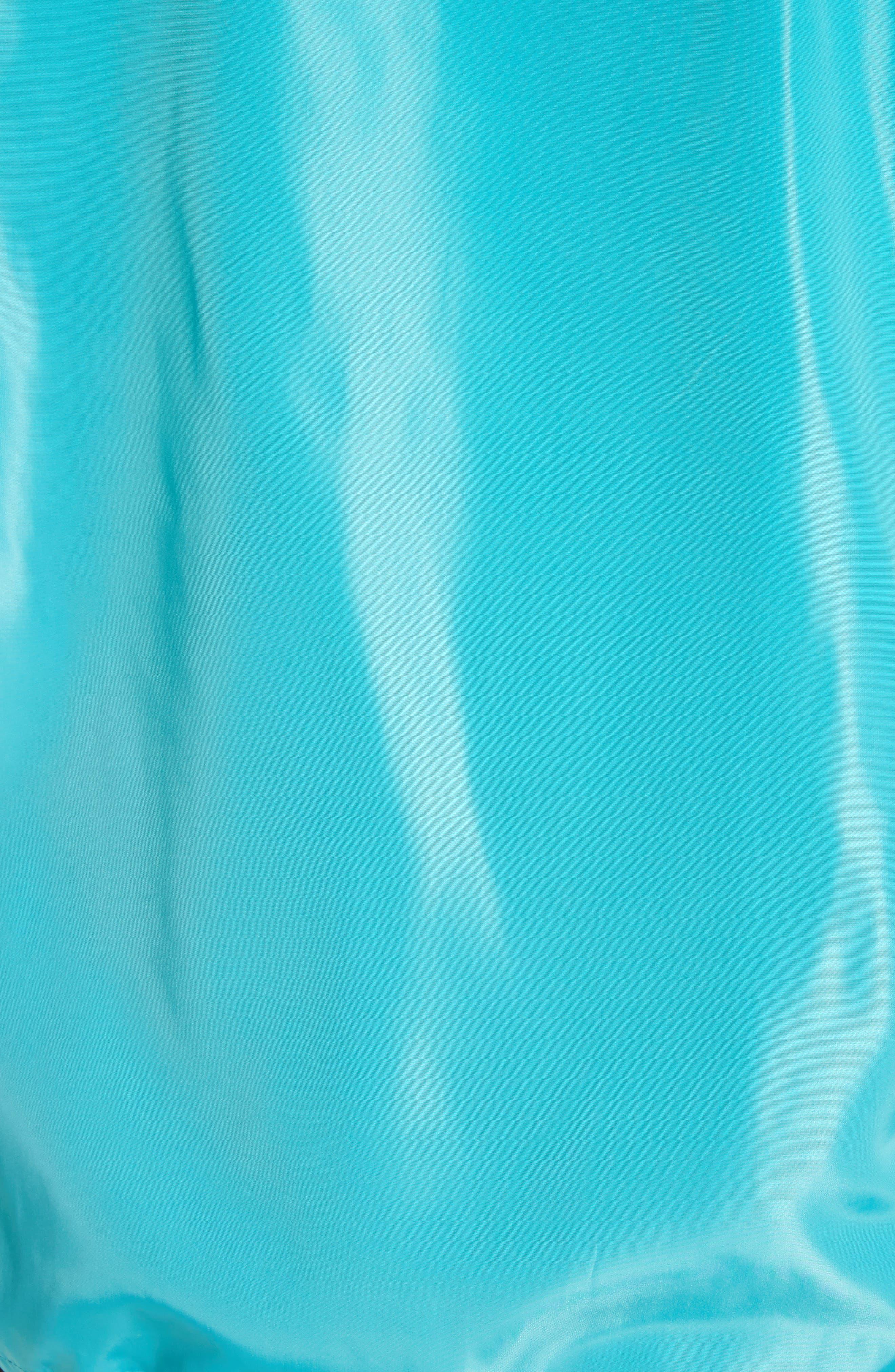 Parli Inglese Coach Jacket,                             Alternate thumbnail 5, color,                             Turquoise