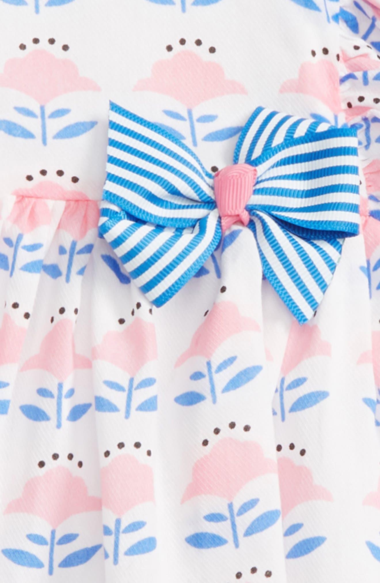 Flutter Sleeve Top & Leggings Set,                             Alternate thumbnail 2, color,                             White/ Pink