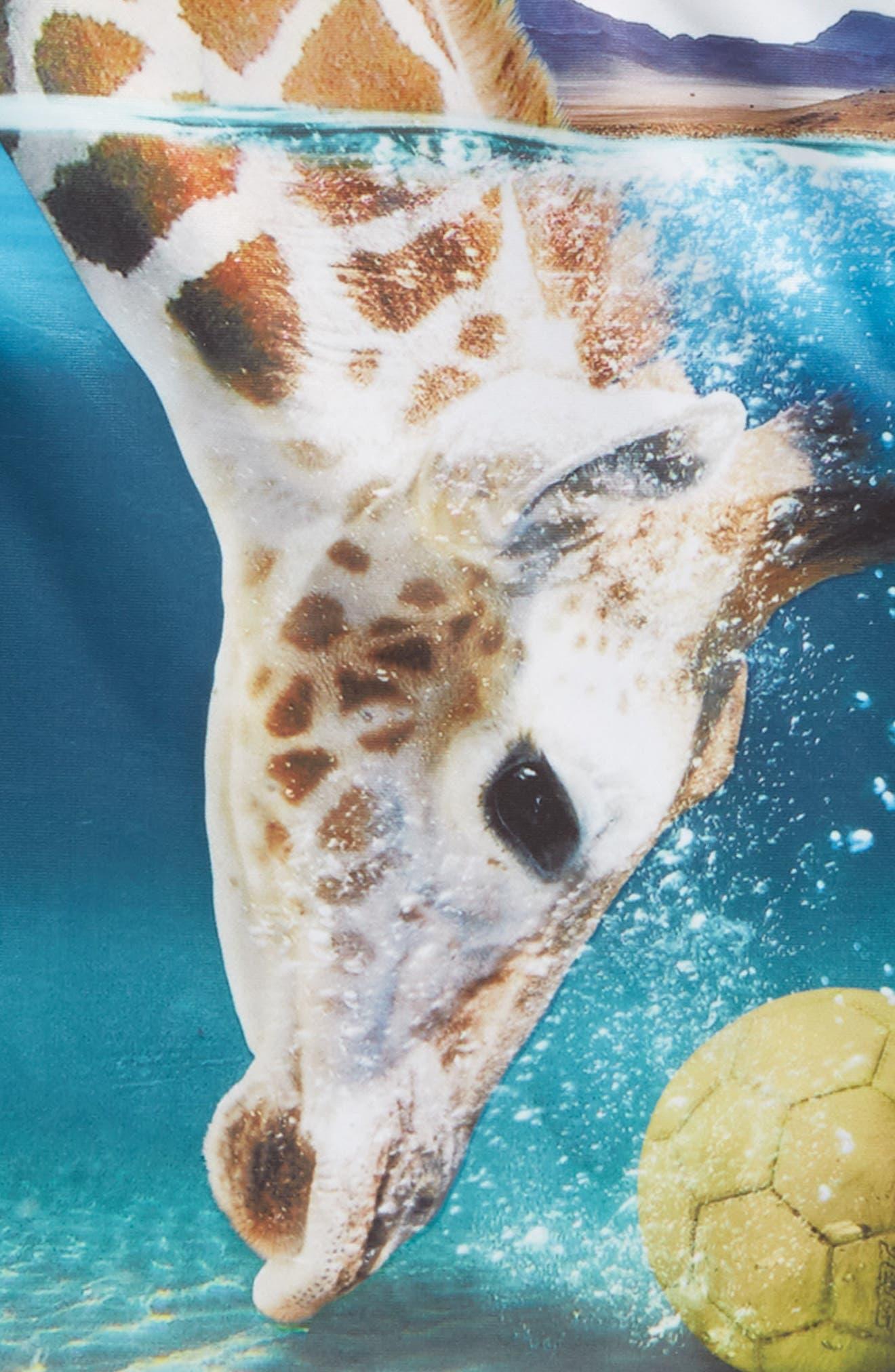 Nemo Rashguard,                             Alternate thumbnail 3, color,                             Giraffe