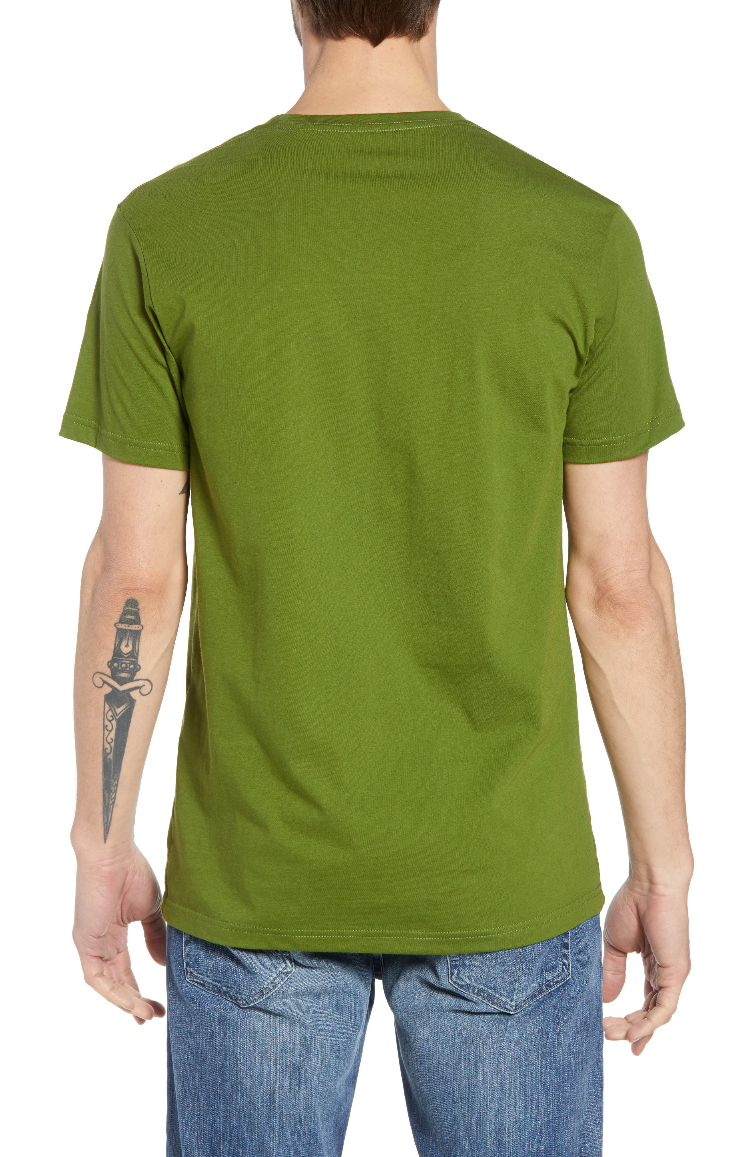 Fitz Roy Scope Crewneck T-Shirt,                             Alternate thumbnail 2, color,                             Sprouted Green