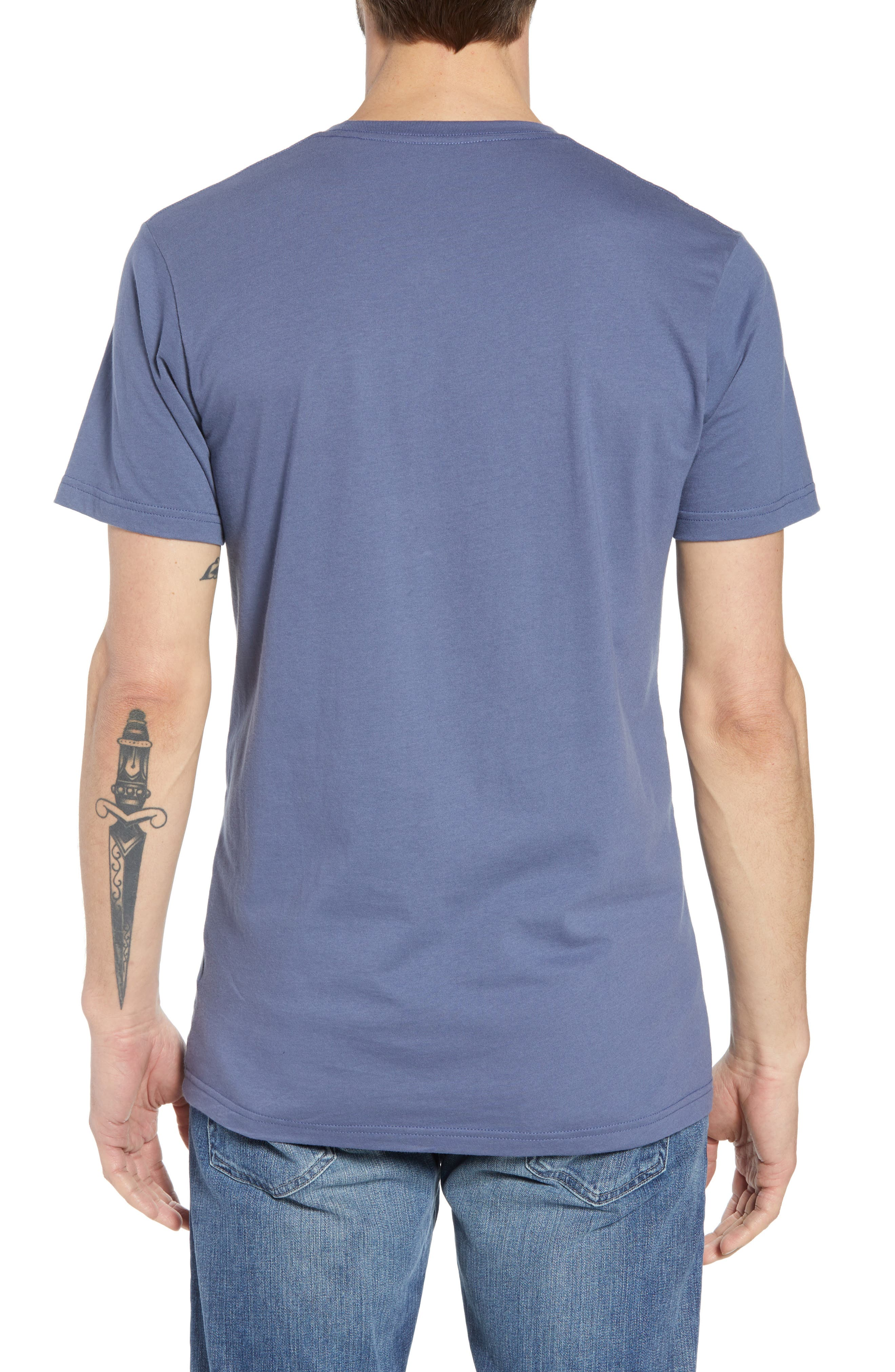 Fitz Roy Scope Crewneck T-Shirt,                             Alternate thumbnail 2, color,                             Dolomite Blue