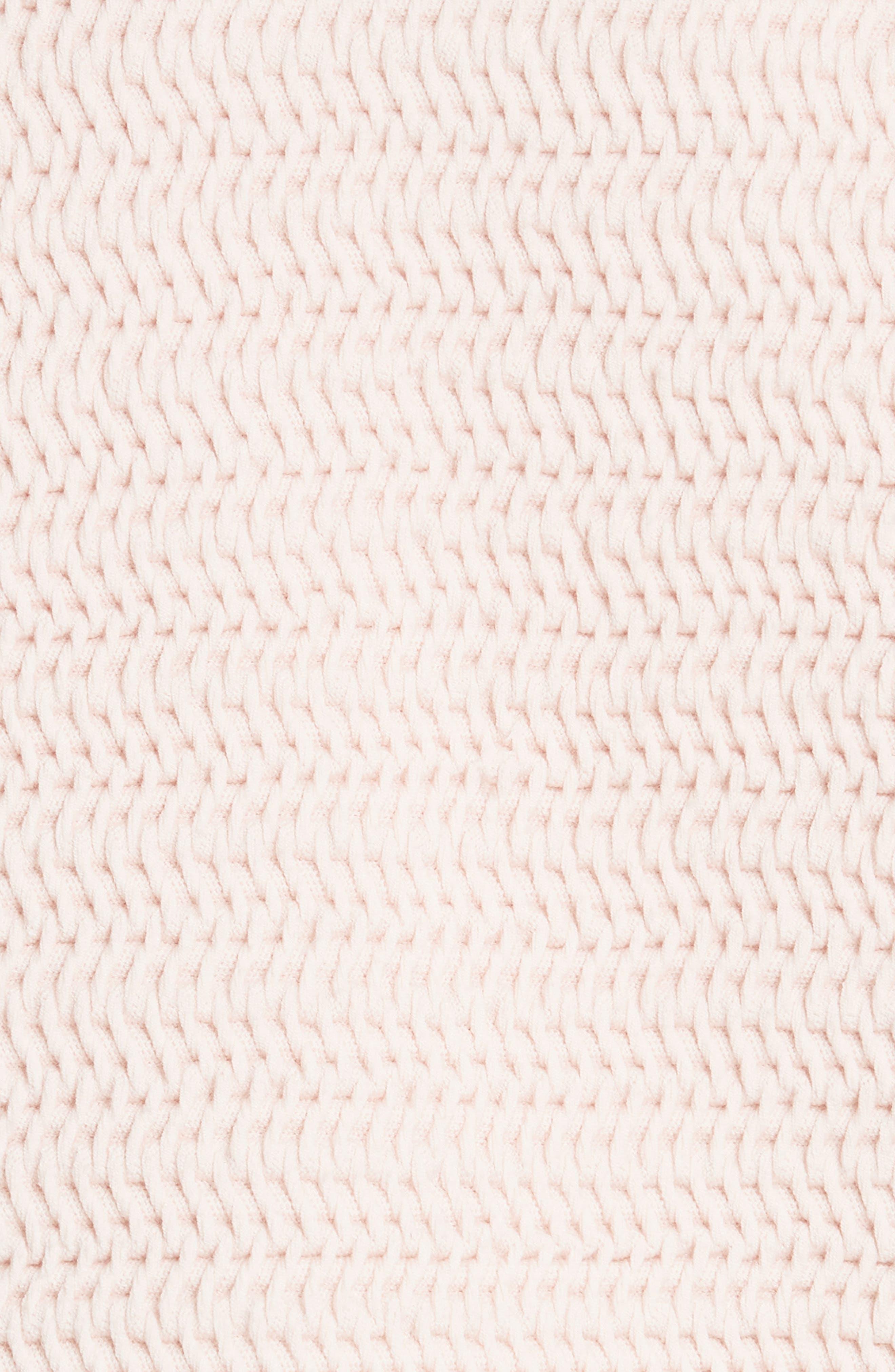 Faux Plait Silk Blend Cocoon Pullover,                             Alternate thumbnail 5, color,                             Powder Pink