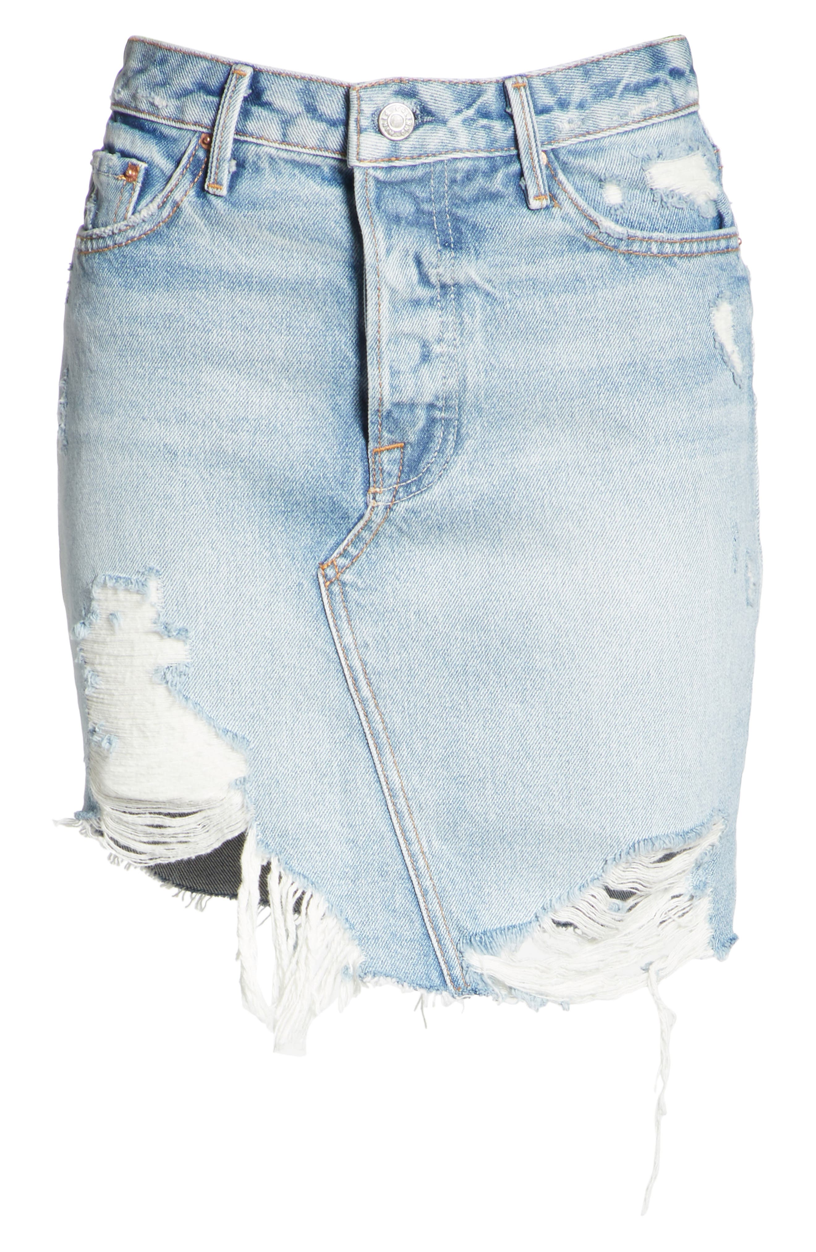 Rhoda Denim Skirt,                             Alternate thumbnail 6, color,                             Lava Bed