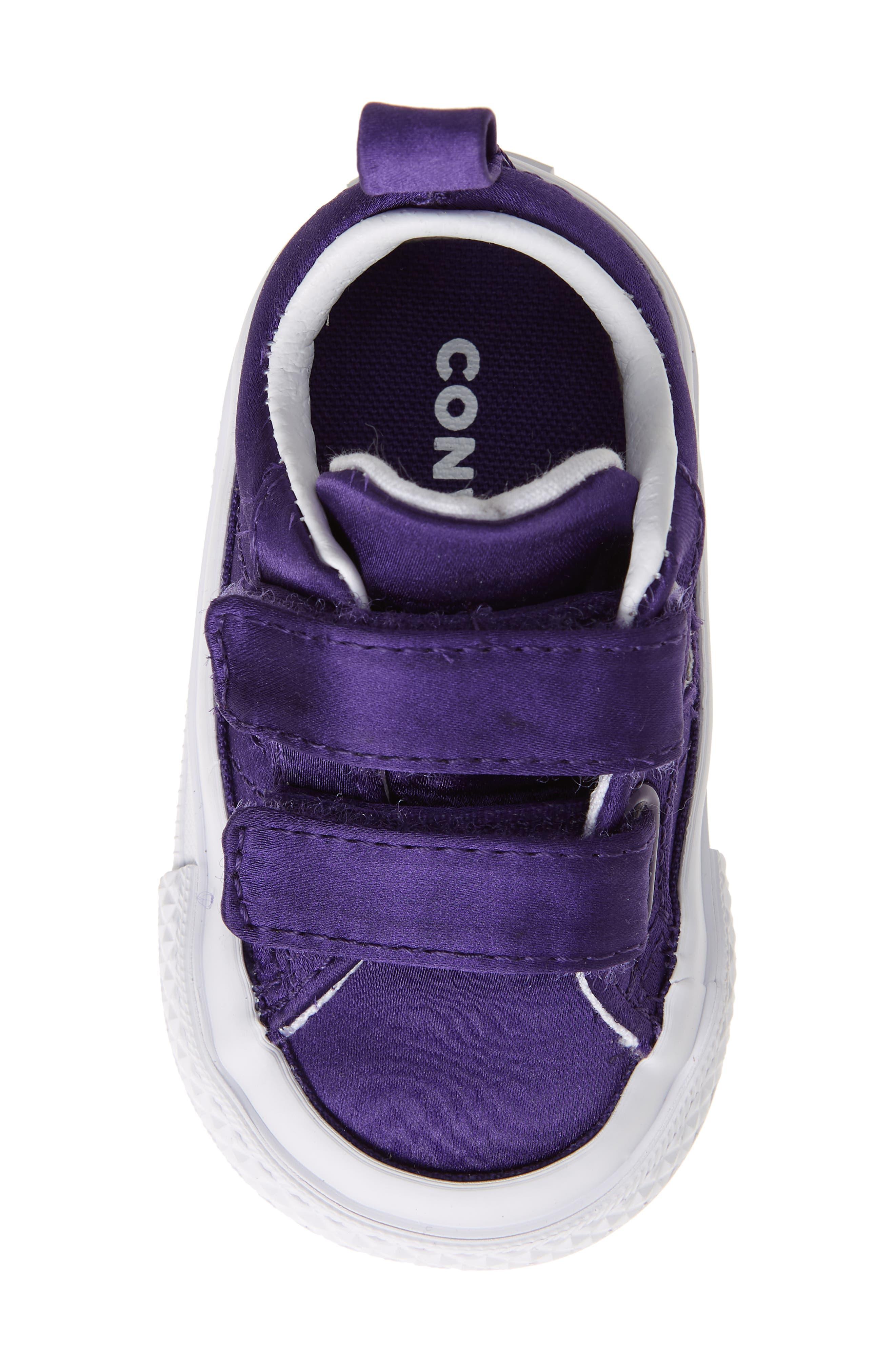 One Star Satin 2V Low Top Sneaker,                             Alternate thumbnail 5, color,                             Court Purple