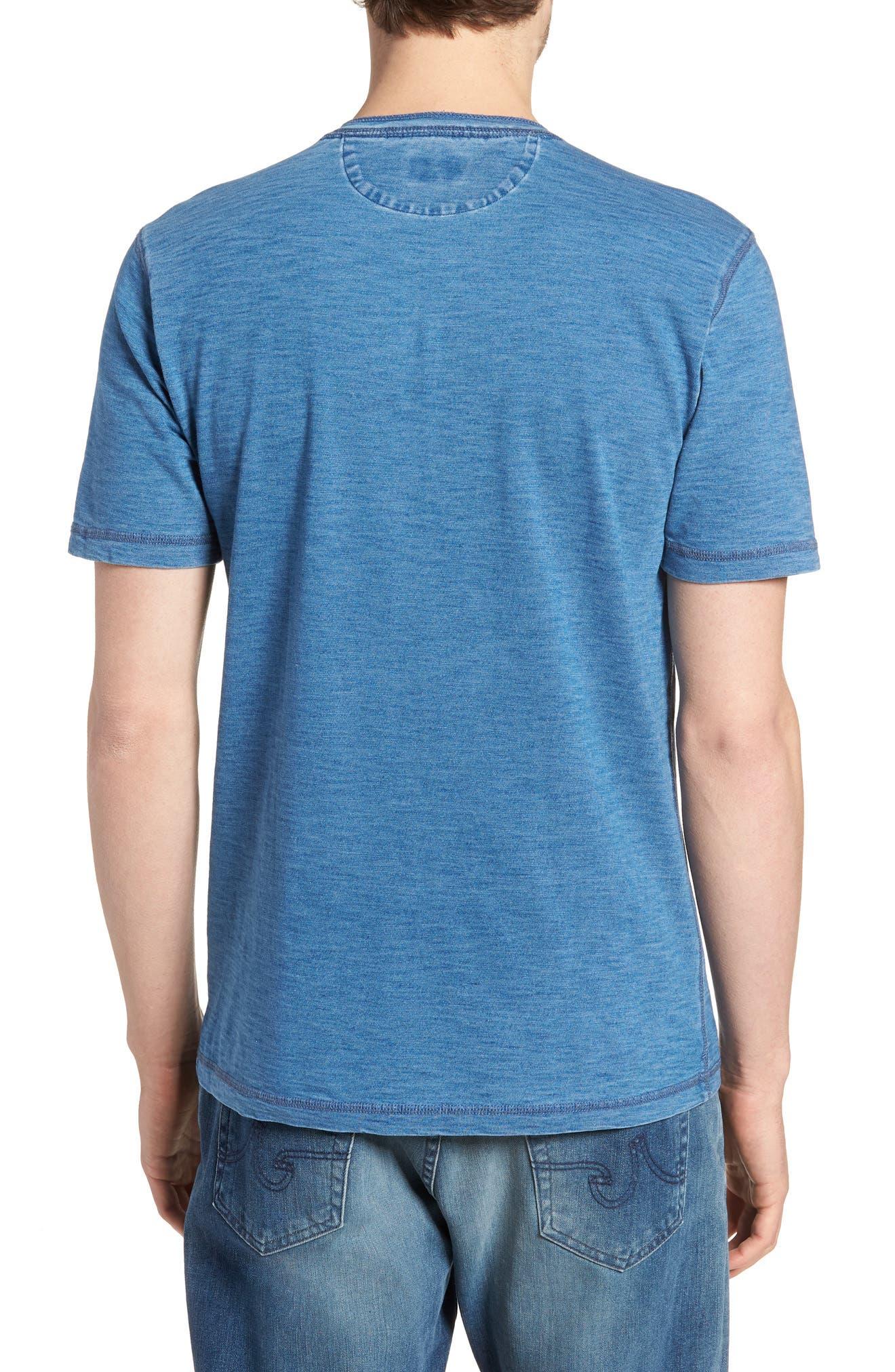 Short Sleeve Henley,                             Alternate thumbnail 3, color,                             Medium Wash