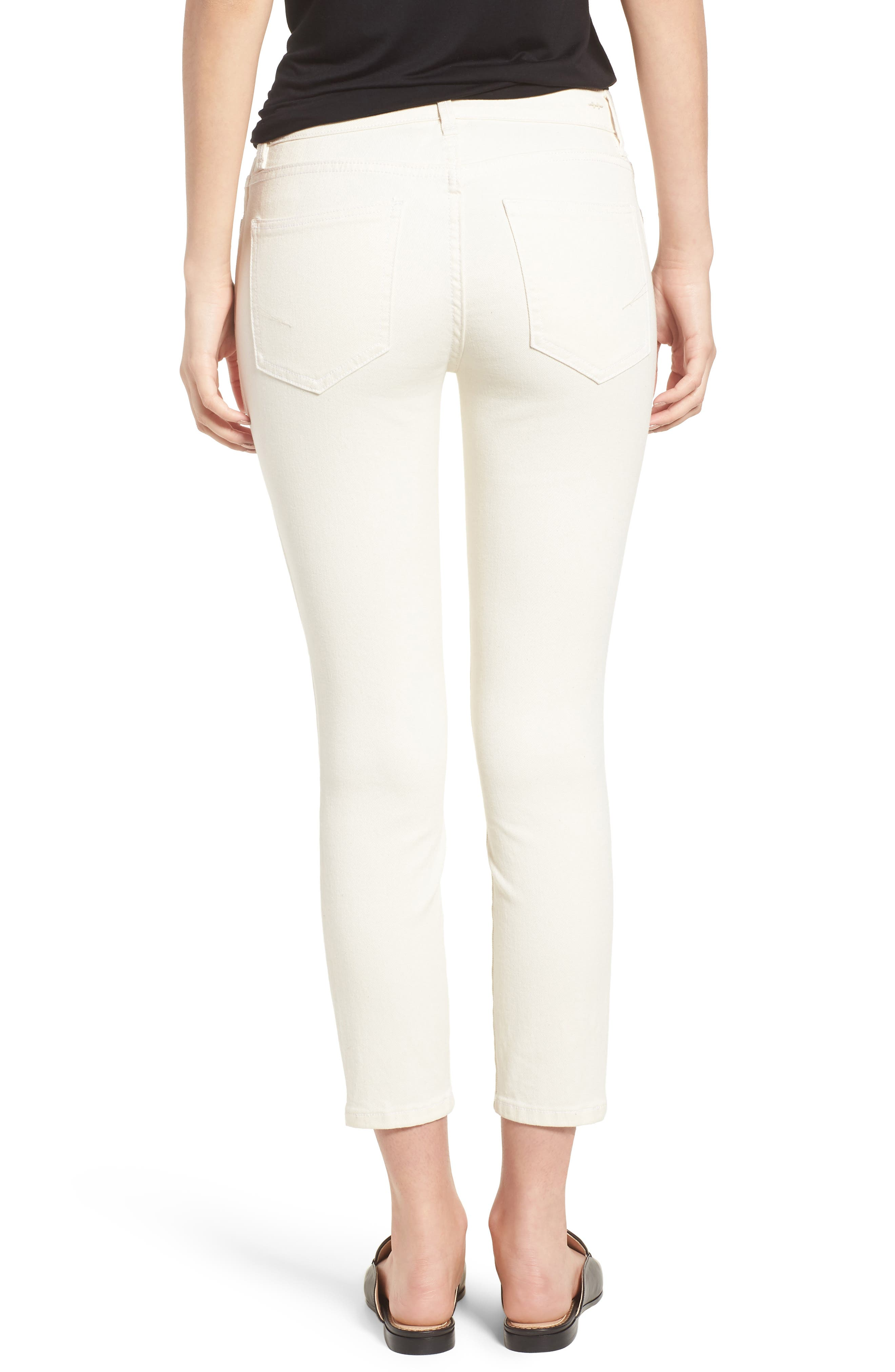 Demi Inset Stripe Skinny Jeans,                             Alternate thumbnail 2, color,                             Natural