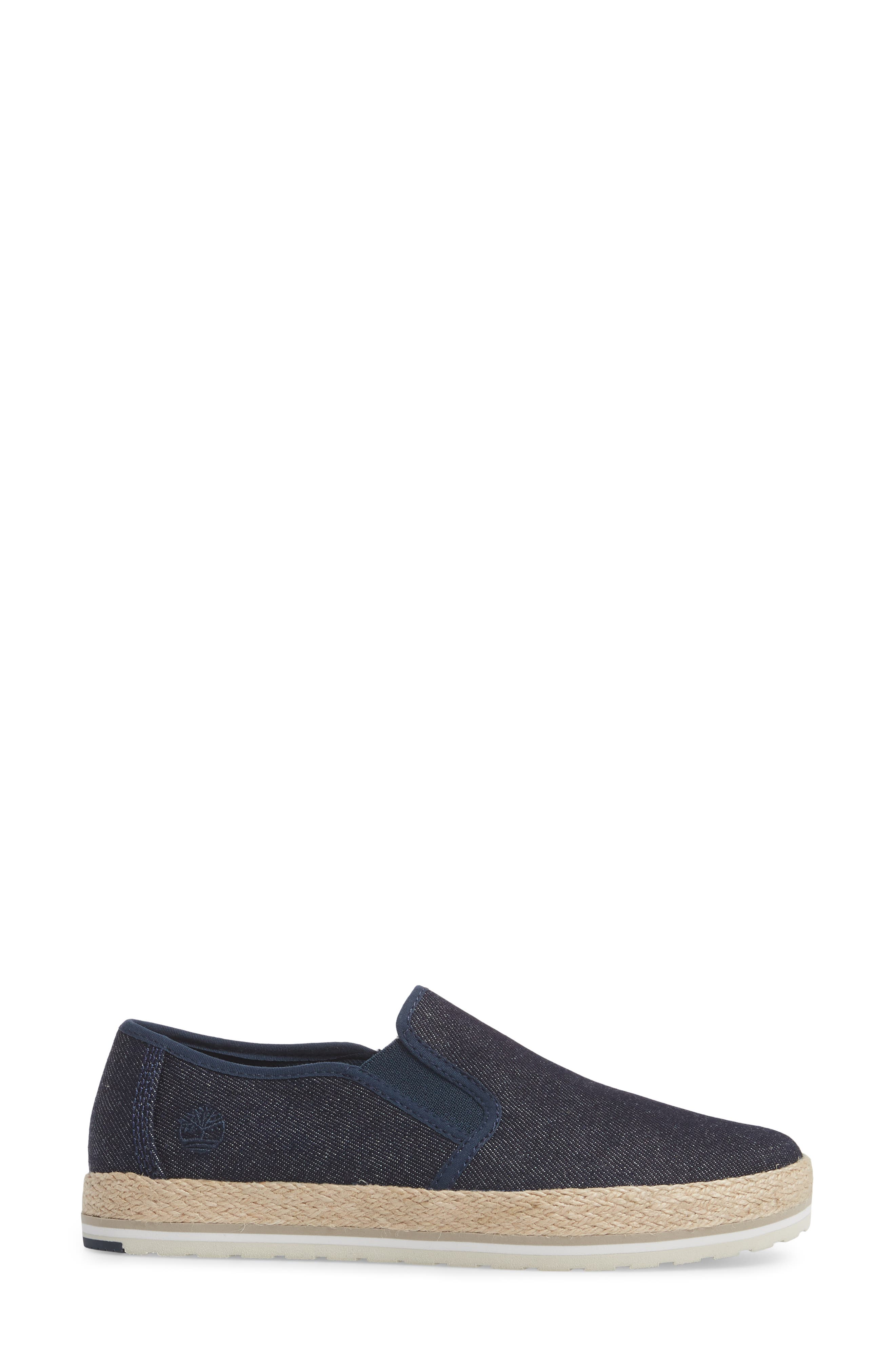 Eivissa Sea Slip-On Sneaker,                             Alternate thumbnail 3, color,                             Navy Canvas