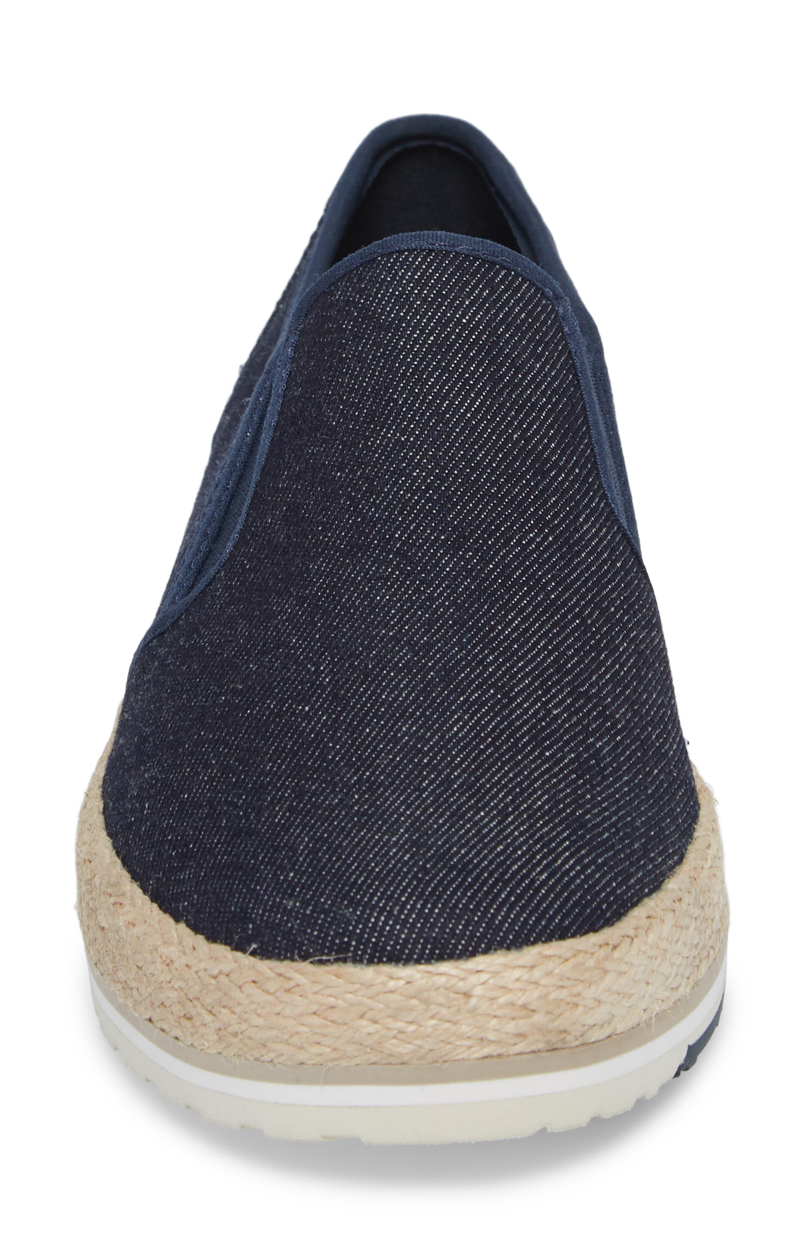 Eivissa Sea Slip-On Sneaker,                             Alternate thumbnail 4, color,                             Navy Canvas