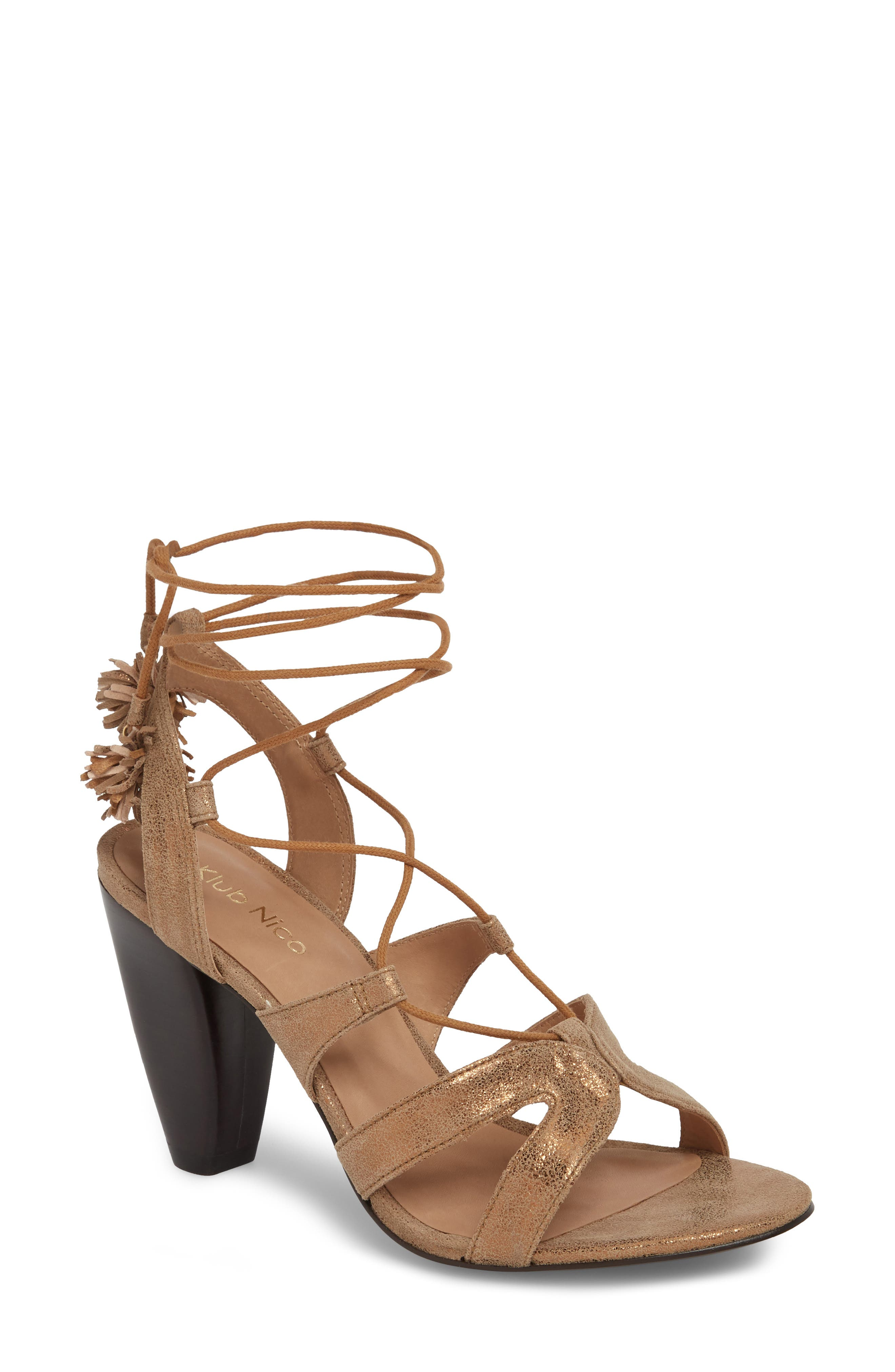 Maxine Sandal,                         Main,                         color, Bronze Suede