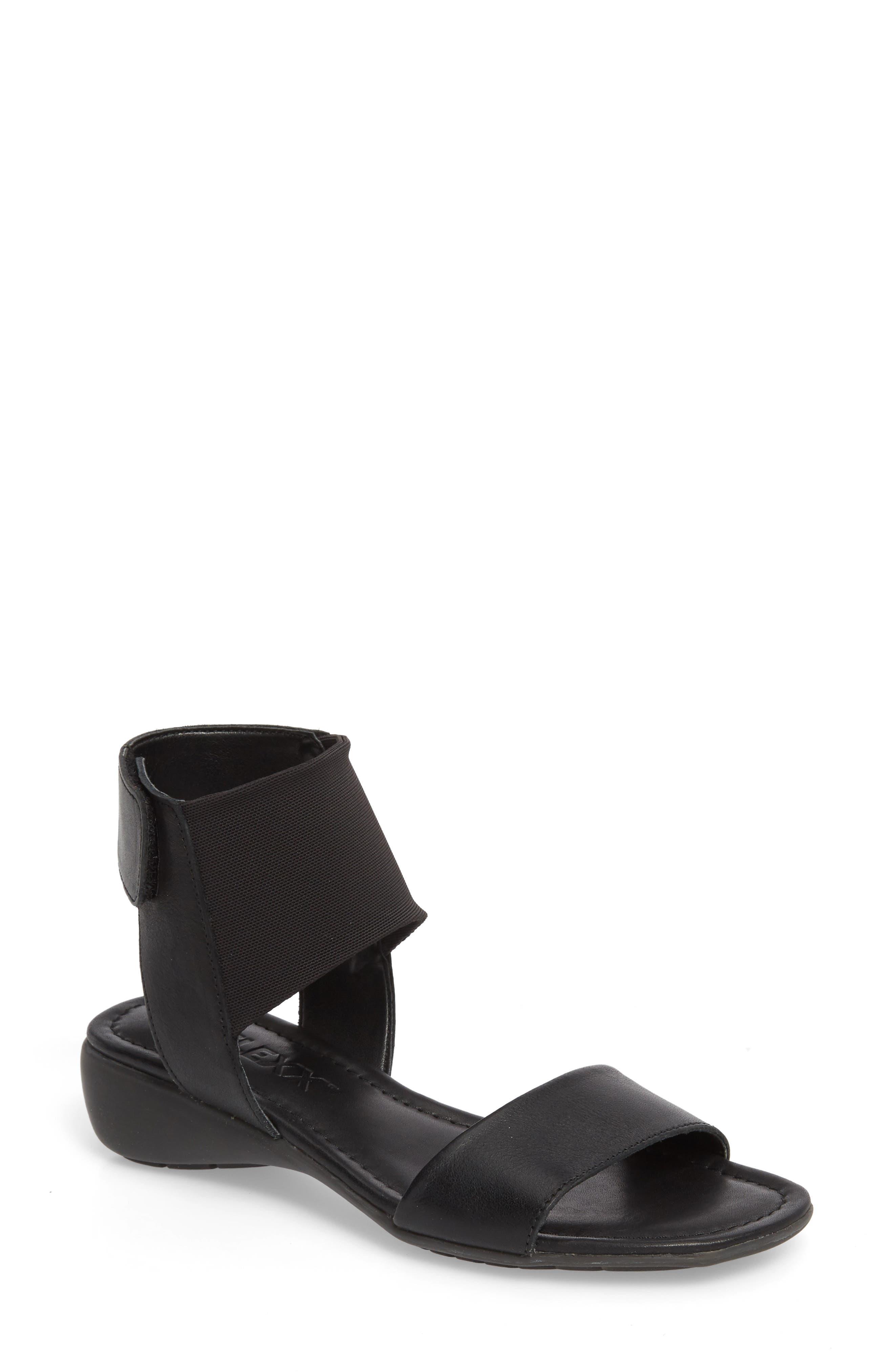 Band Jo Sandal,                         Main,                         color, Black Leather