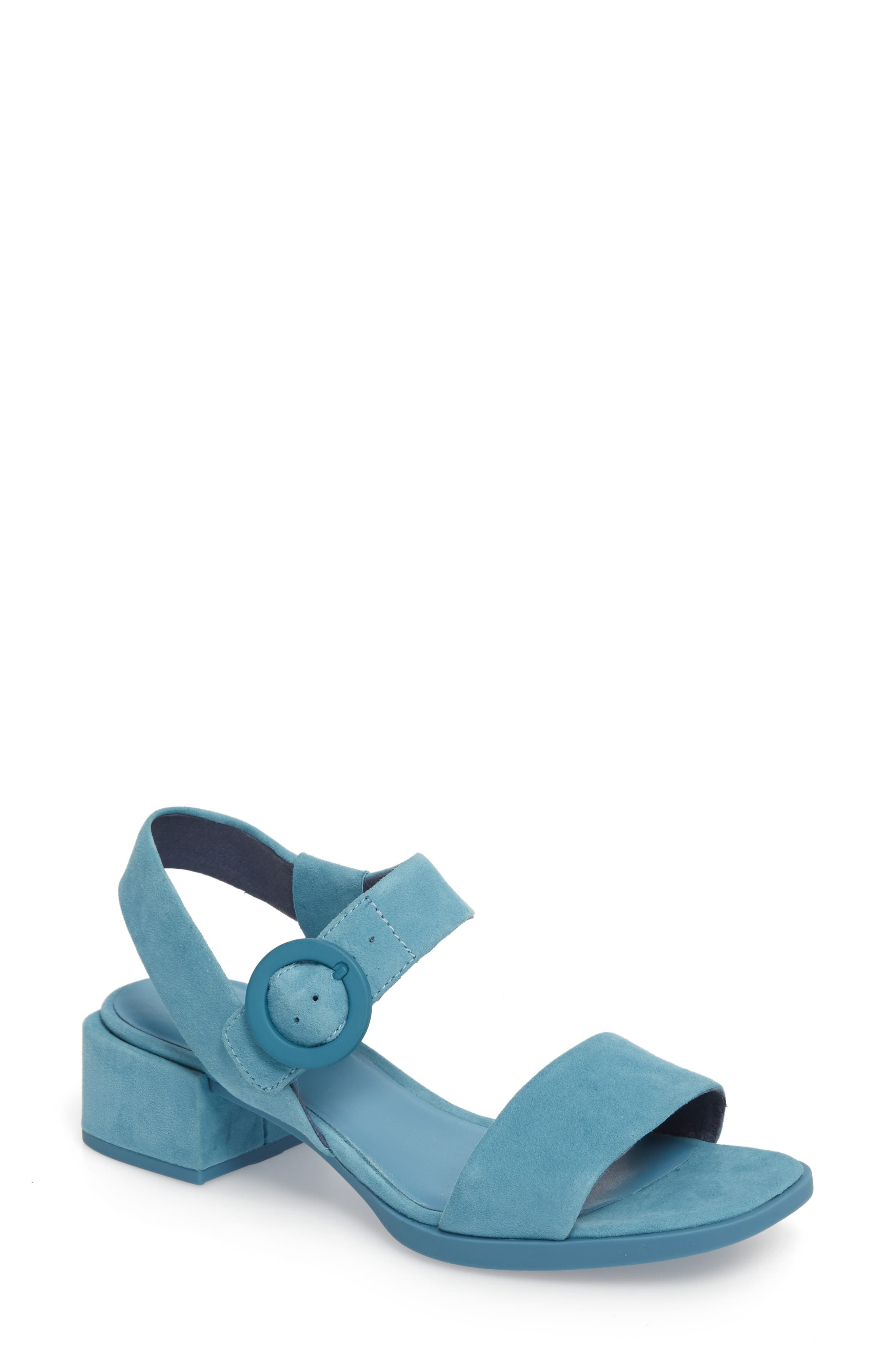 Kobo Sandal,                         Main,                         color, Medium Blue Suede