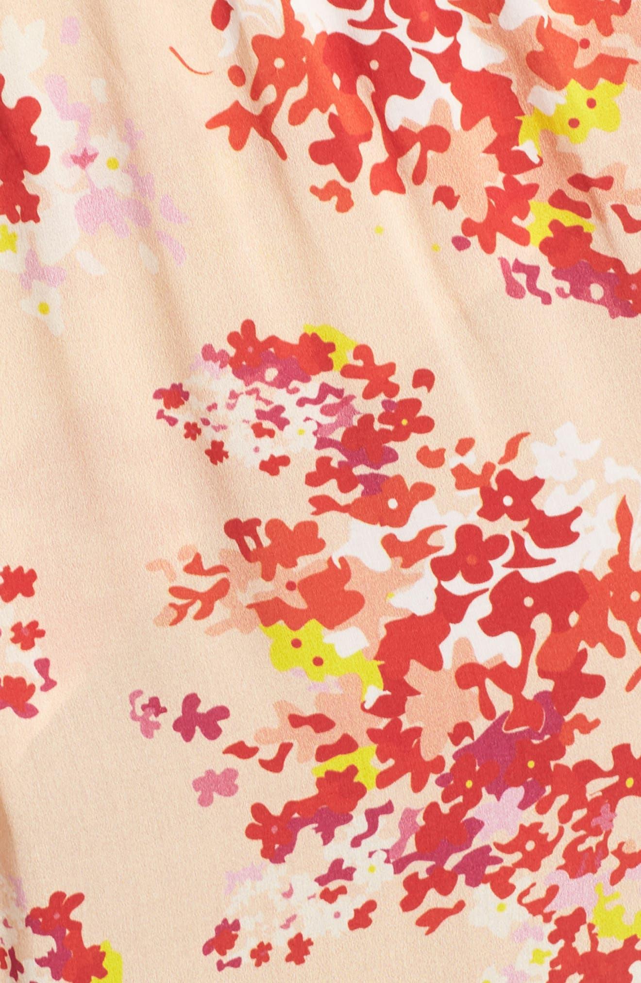 The Stasis Wrap Maxi Dress,                             Alternate thumbnail 5, color,                             Peach