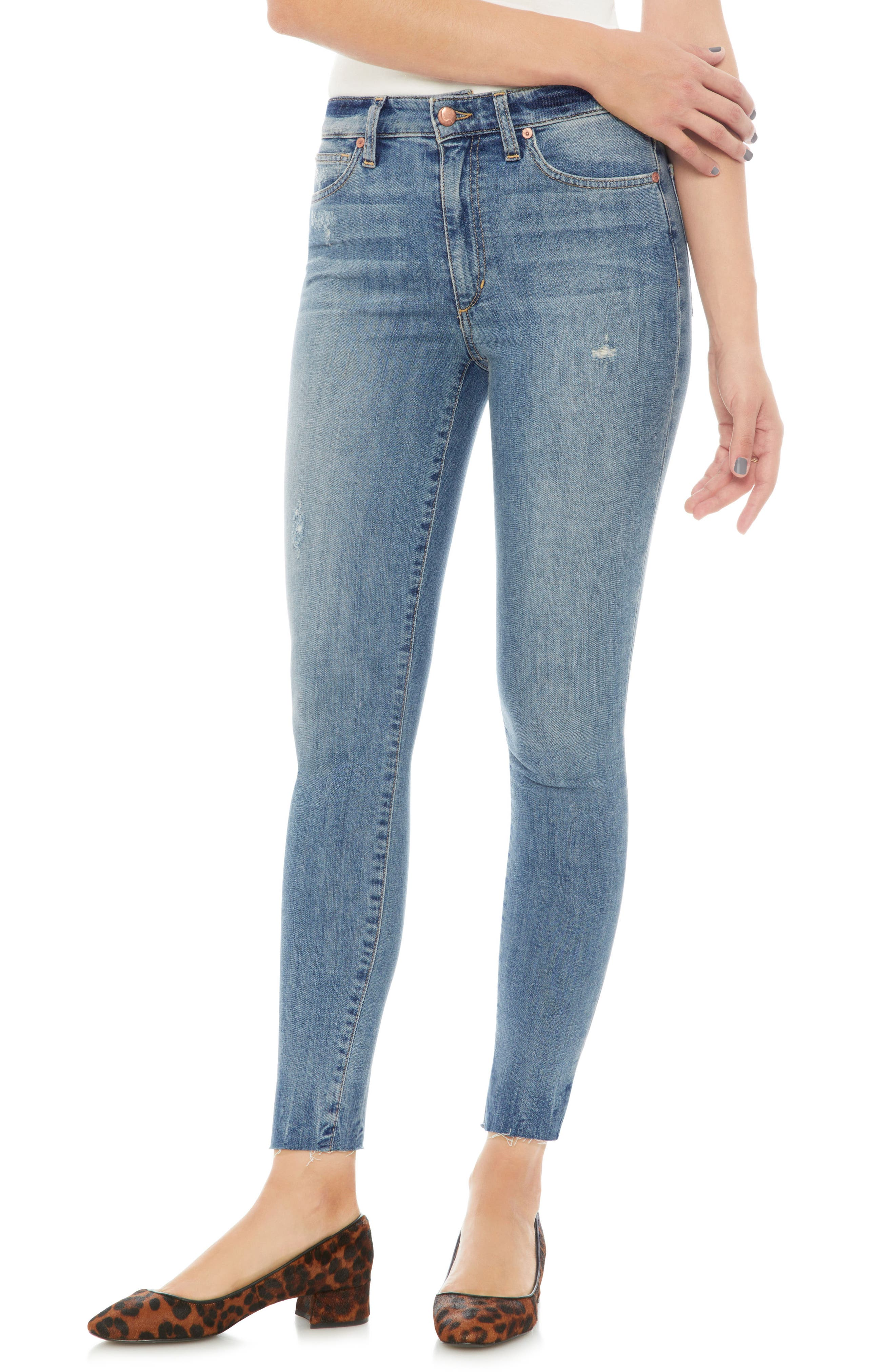 Charlie Raw Hem Ankle Skinny Jeans,                             Main thumbnail 1, color,                             Ridley