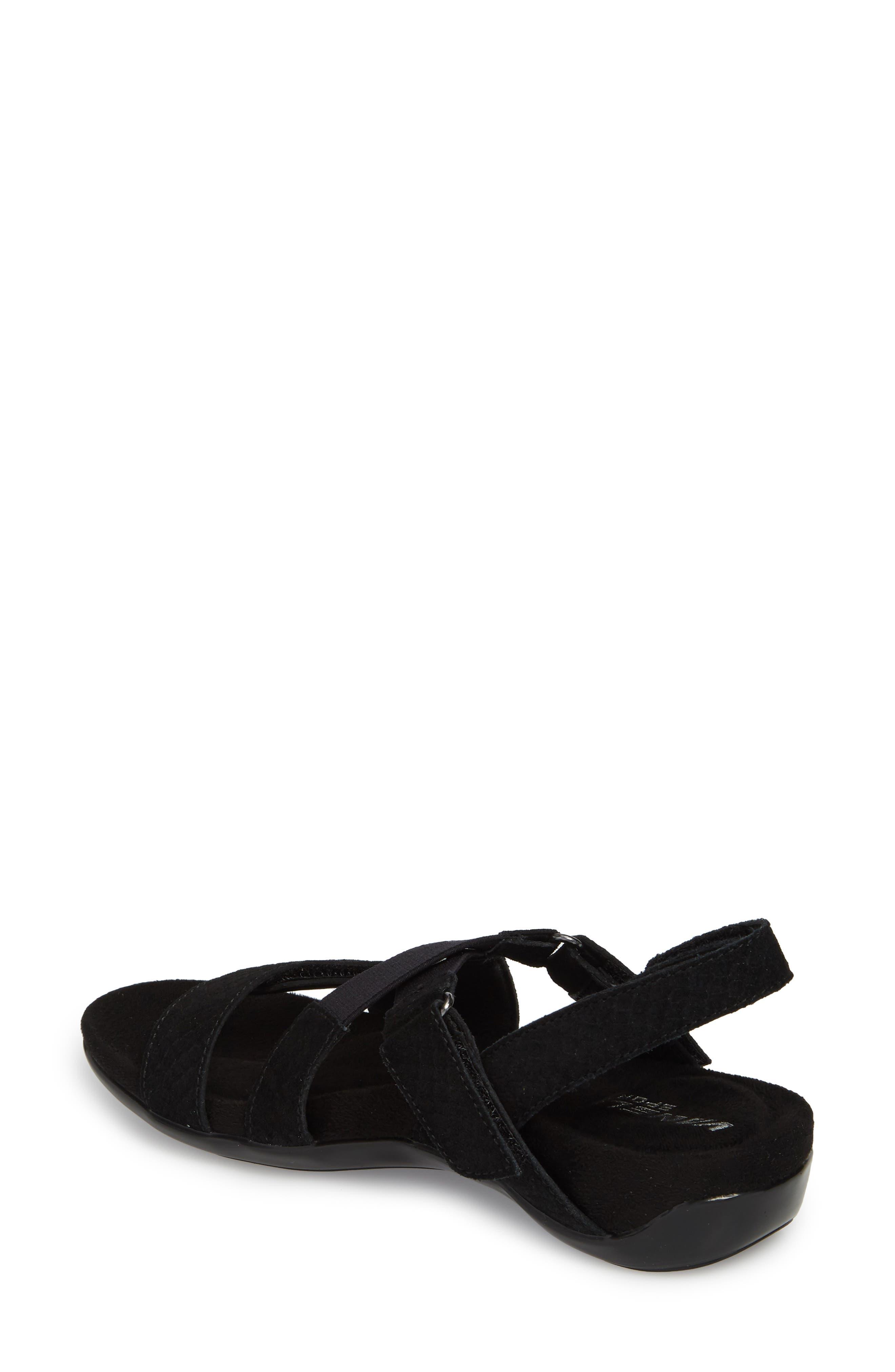 Vicki Slingback Sandal,                             Alternate thumbnail 2, color,                             Black Printed Leather